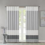 *Liesel Striped Light Filtering Rod Pocket Curtains l 50 x 84 - Set of 2 - Gray