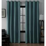 "*Aaliyah Solid Color Semi-Sheer Grommet Curtain Panel - 54"" x 84"" - Set of 2"