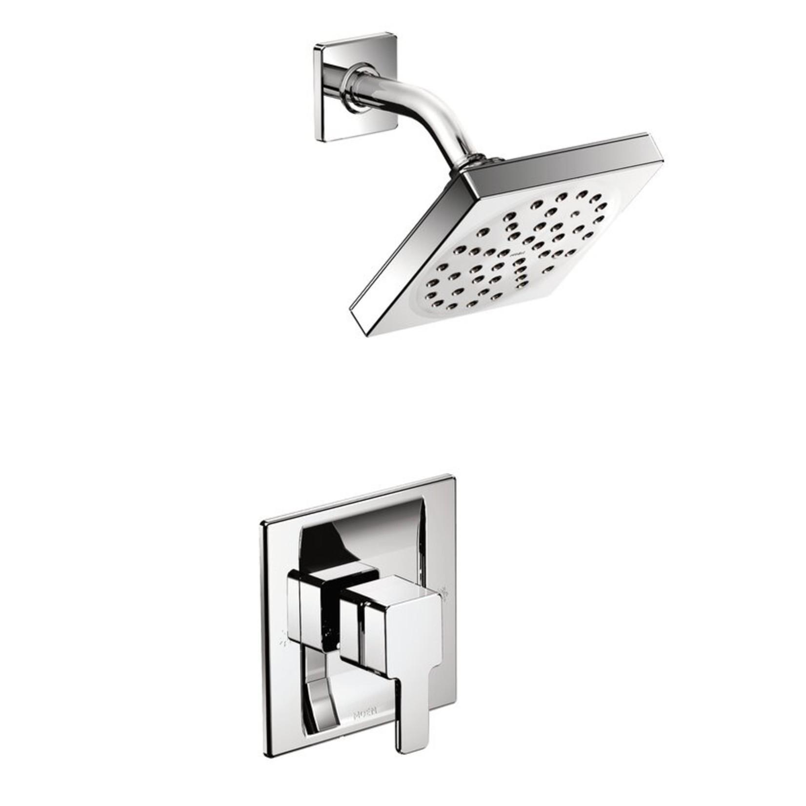 *90 Degree Pressure Balanced Shower Faucet with Posi-Temp - Chrome