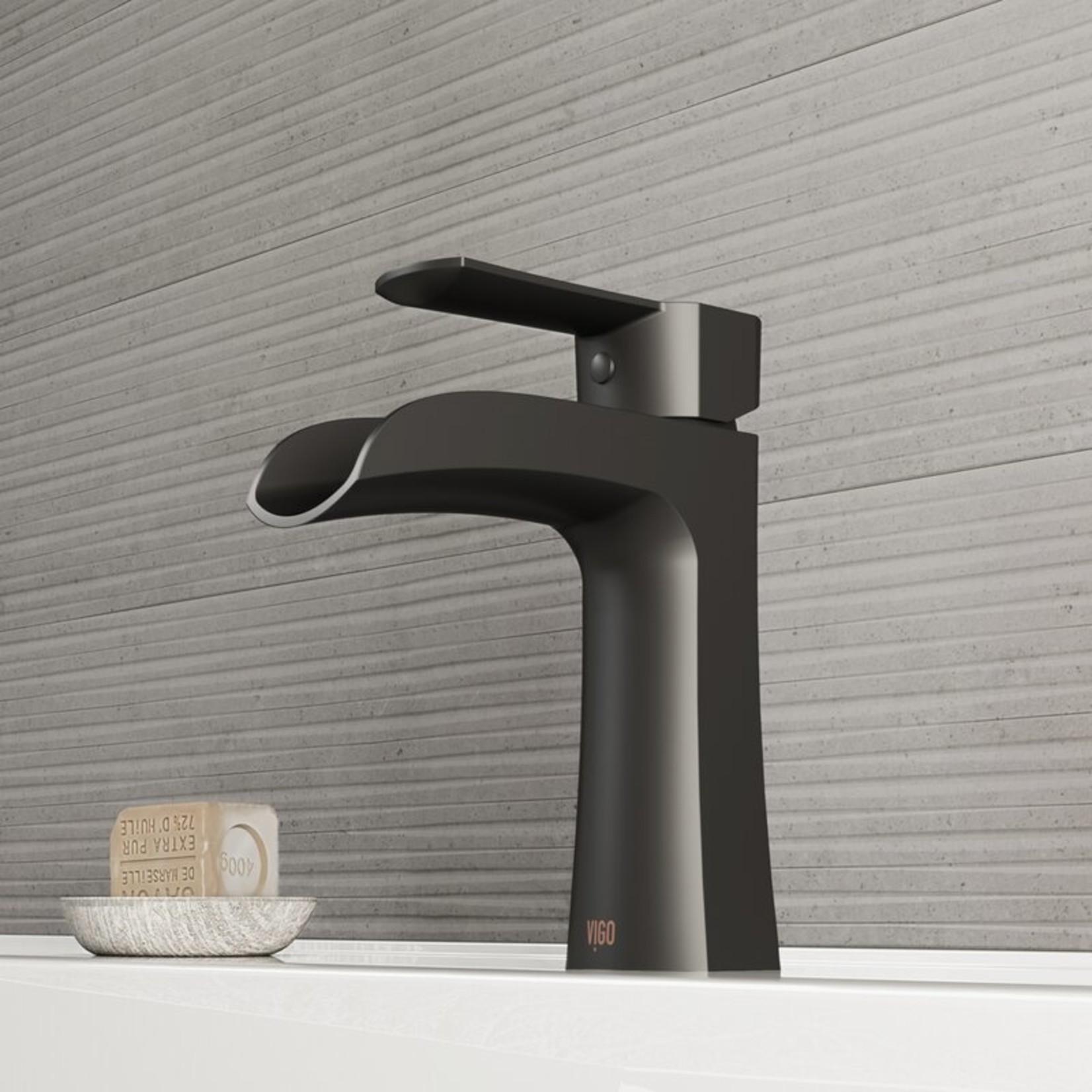 *Paloma Single Hole Bathroom Faucet - Matte Black