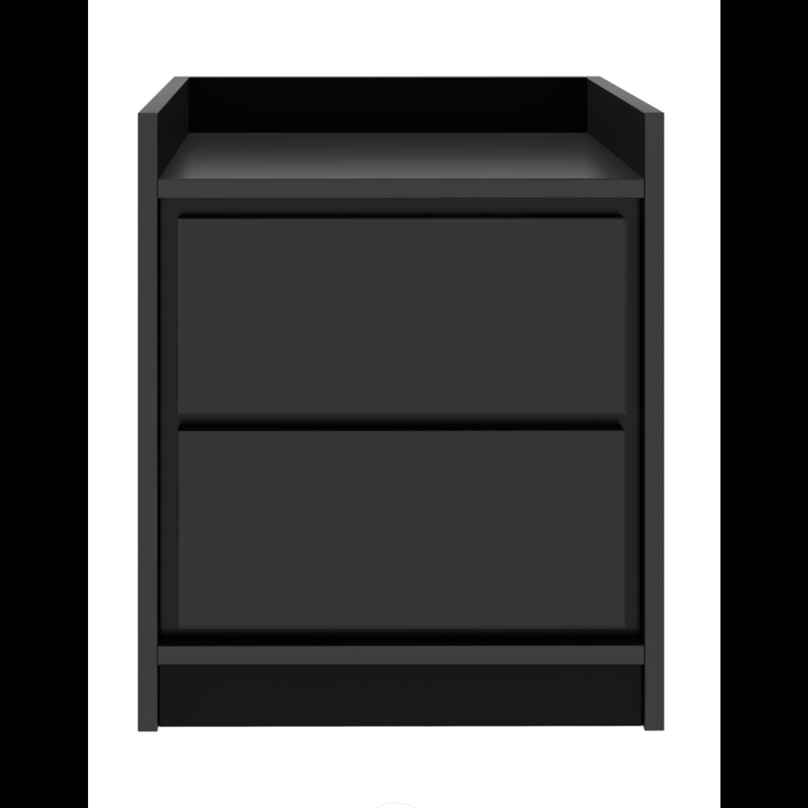 *Inia Low Profile Nightstand - Black