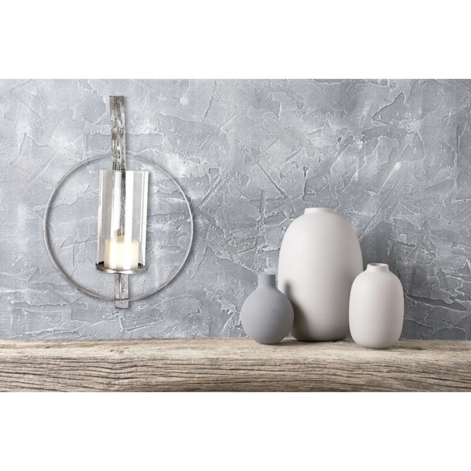 """*21.75"""" Glass Wall Sconce - Silver"""