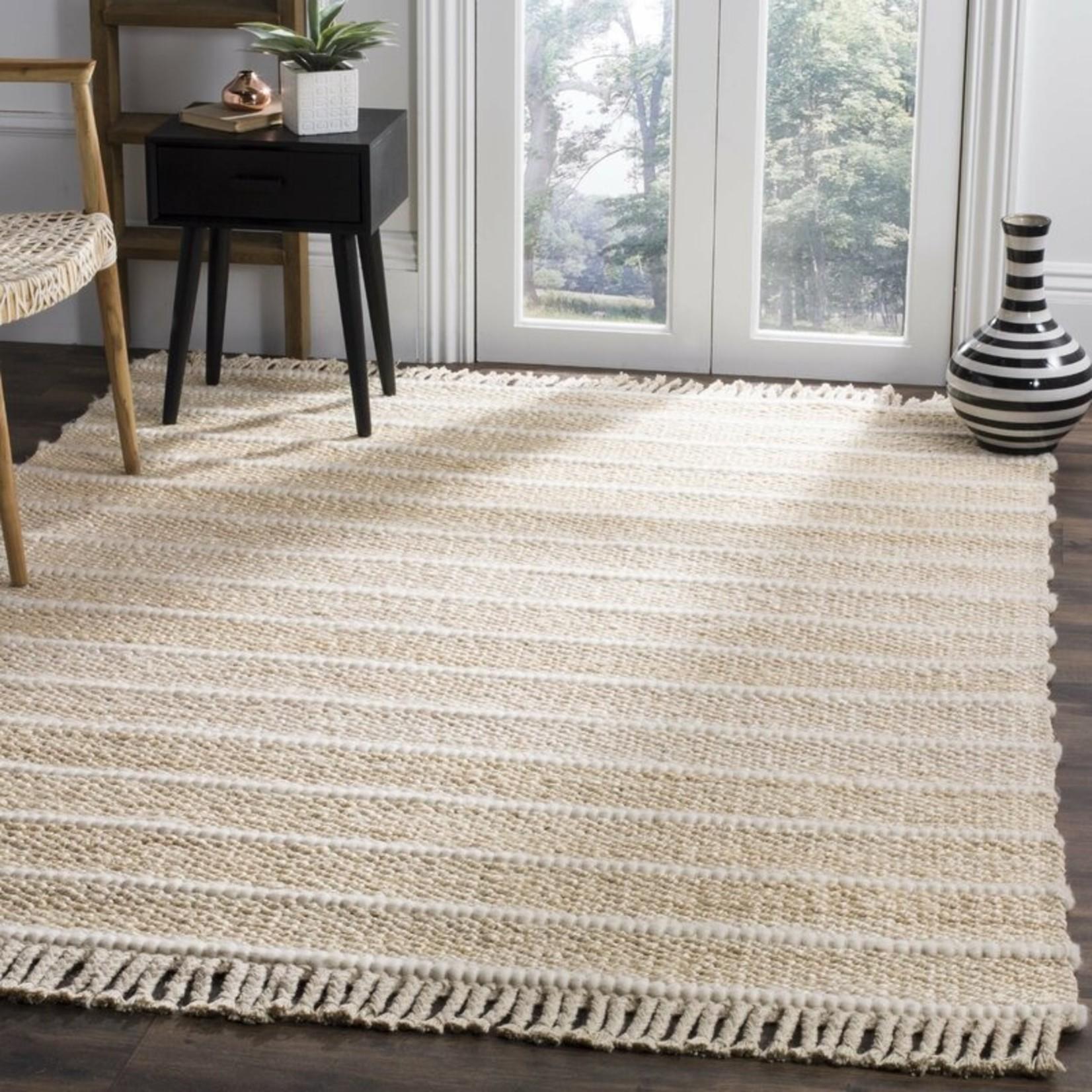 *6' Square - Lawtey Fiber Hand-Woven Beige Area Rug