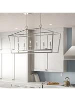 *Carmen 6-Light Kitchen Island Linear Pendant - Chrome