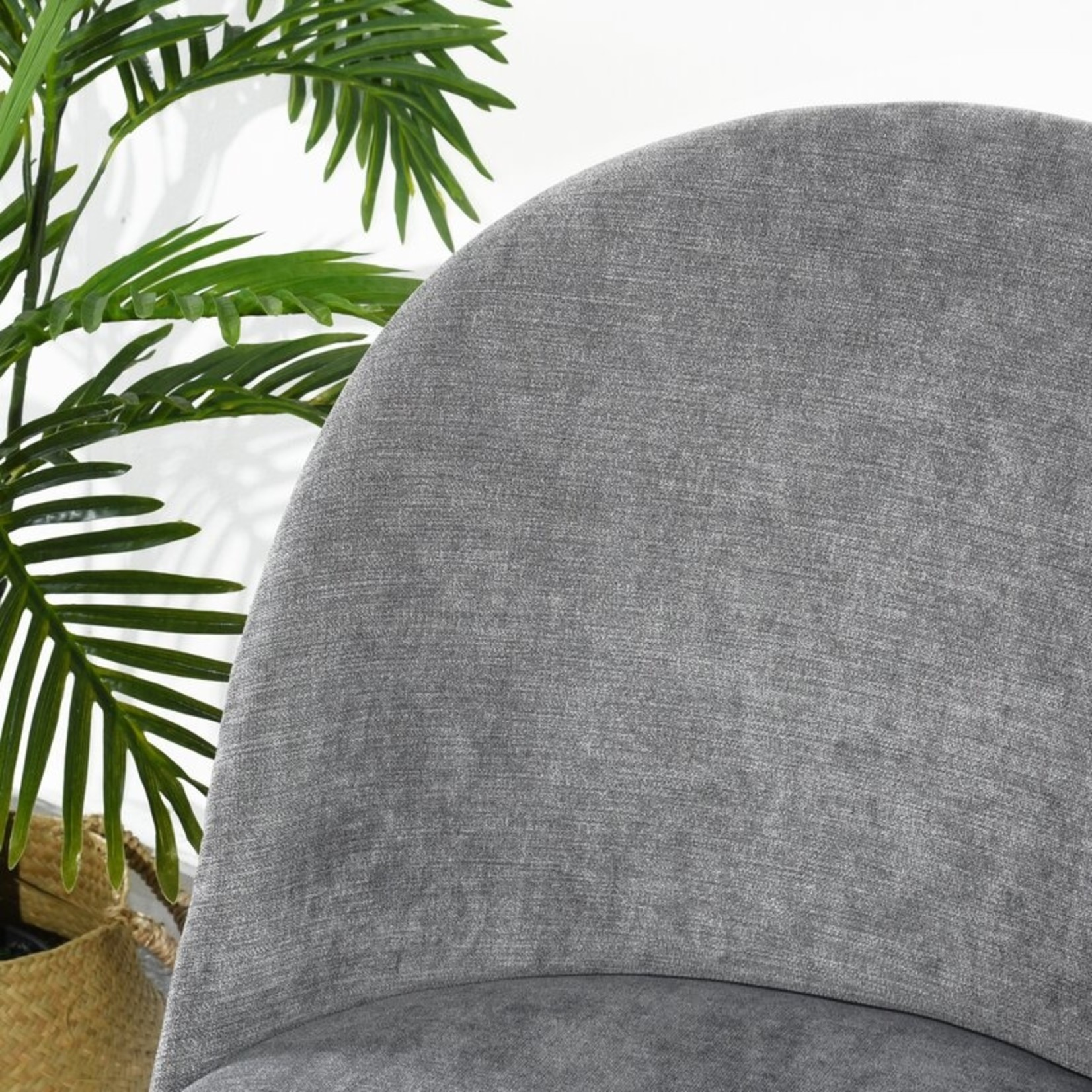 *Fairview Velvet Side Chair - Grey - Set of 2