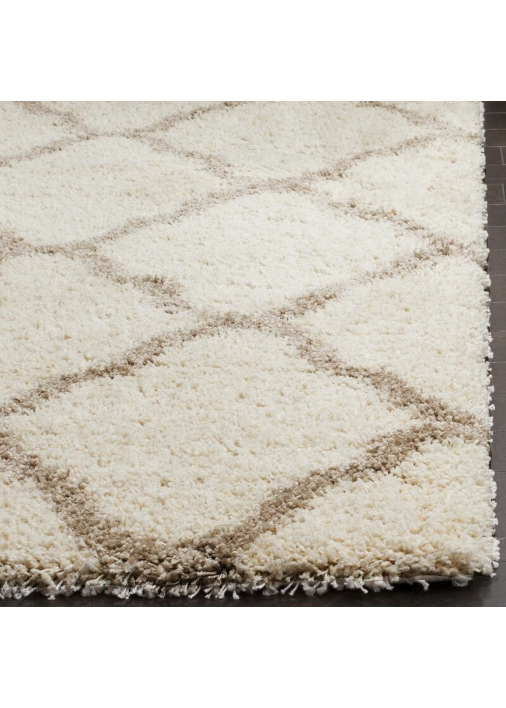 *5'3 x 7'6 - Statesboro Geometric Ivory Area Rug