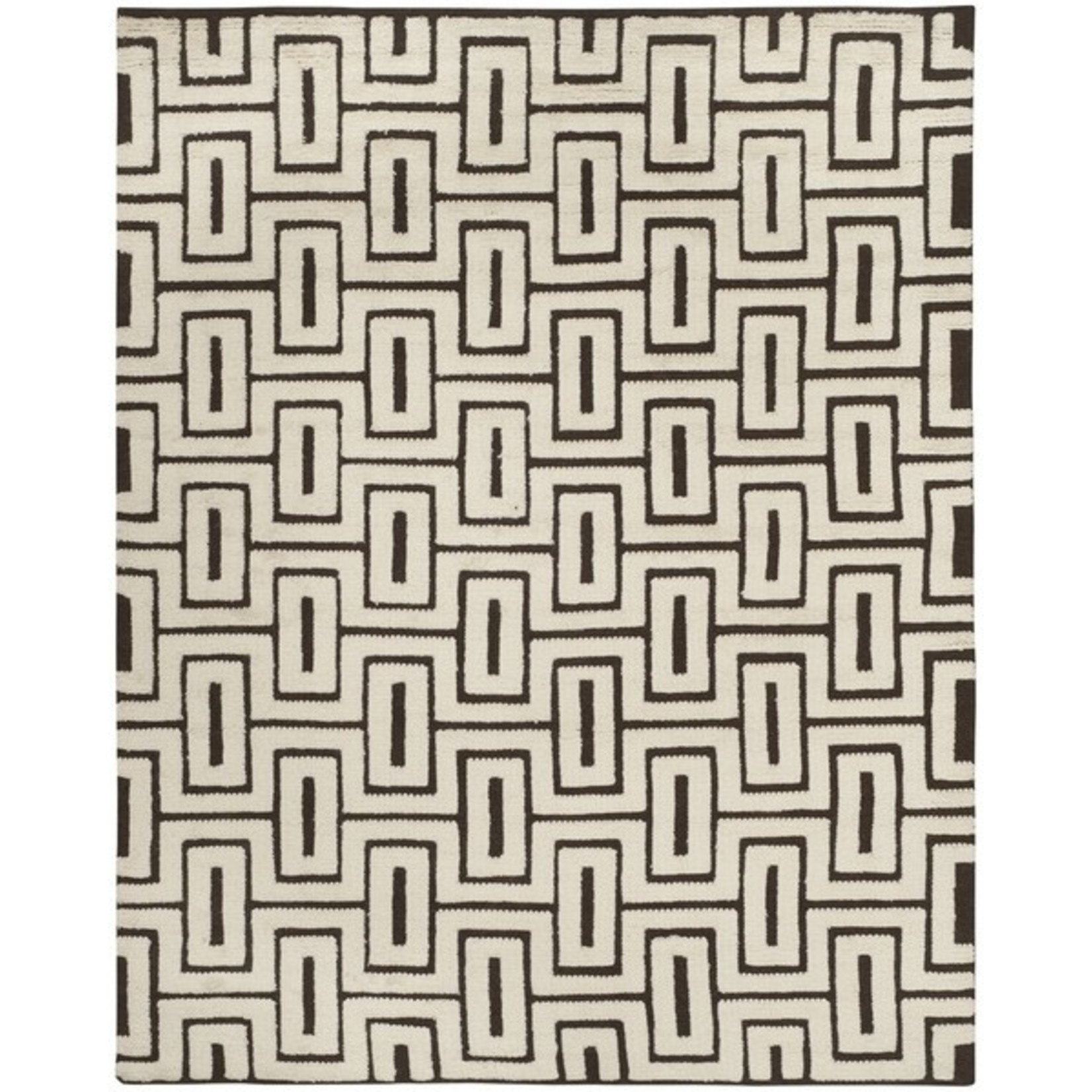 *8 x 10 - Glenoe Hand-Knotted Wool/Cotton Ivory Area Rug