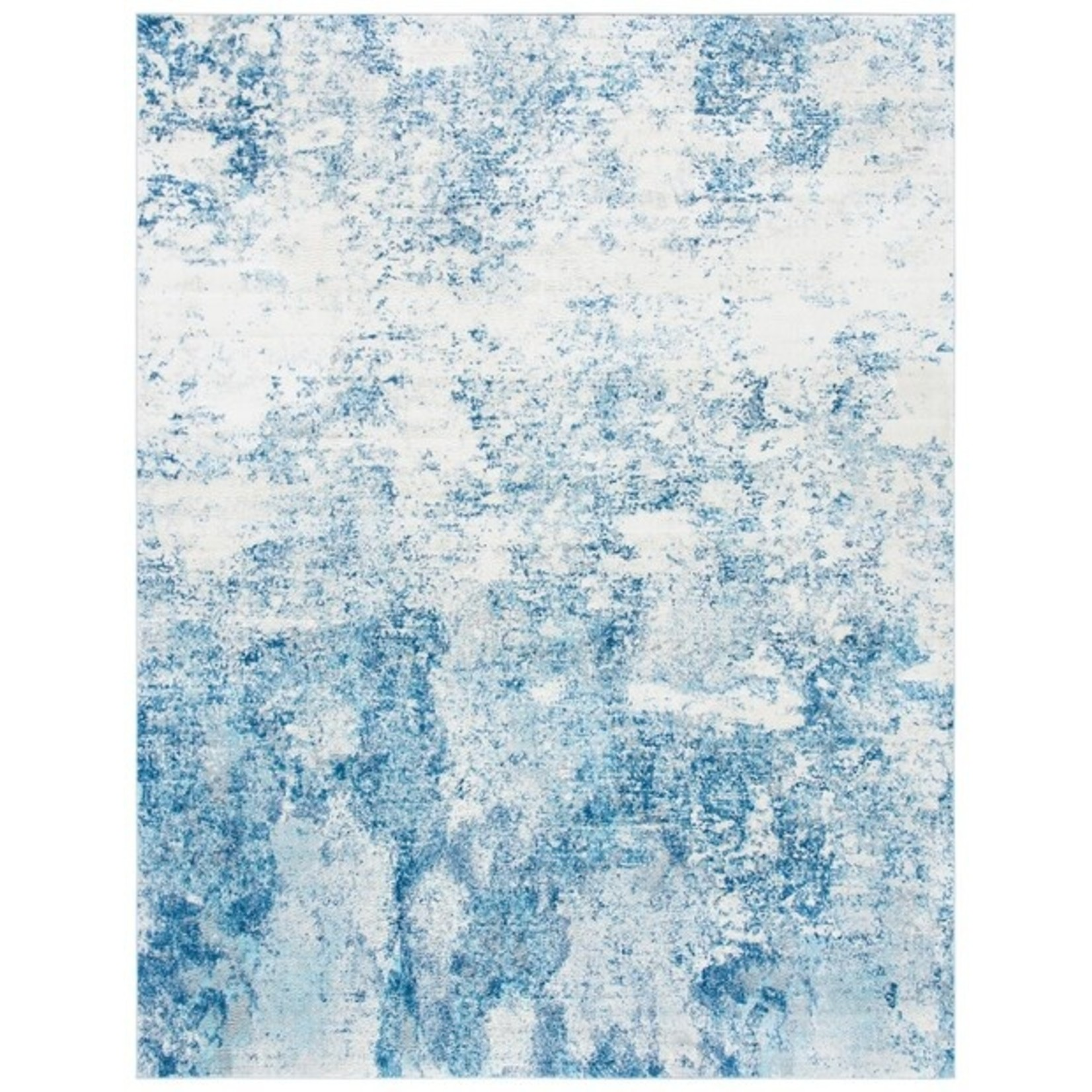 *9' x 12' - Abstract Ivory Navy Area Rug