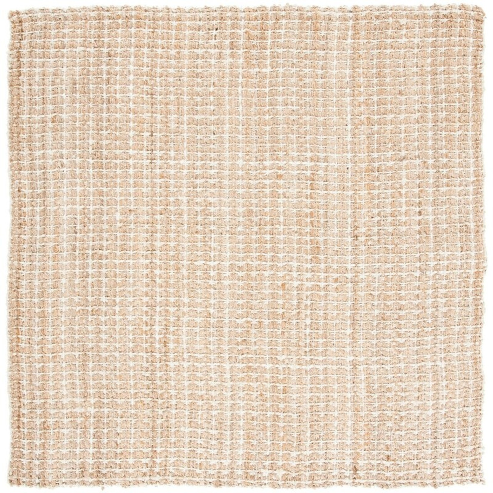 *7' x 7' Square - Cardoso Abstract Handmade Tufted Beige Area Rug - Dirt on Back