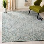*5' x 8' - Salerna Geometric Handmade Tufted Wool Blue/Gray Area Rug