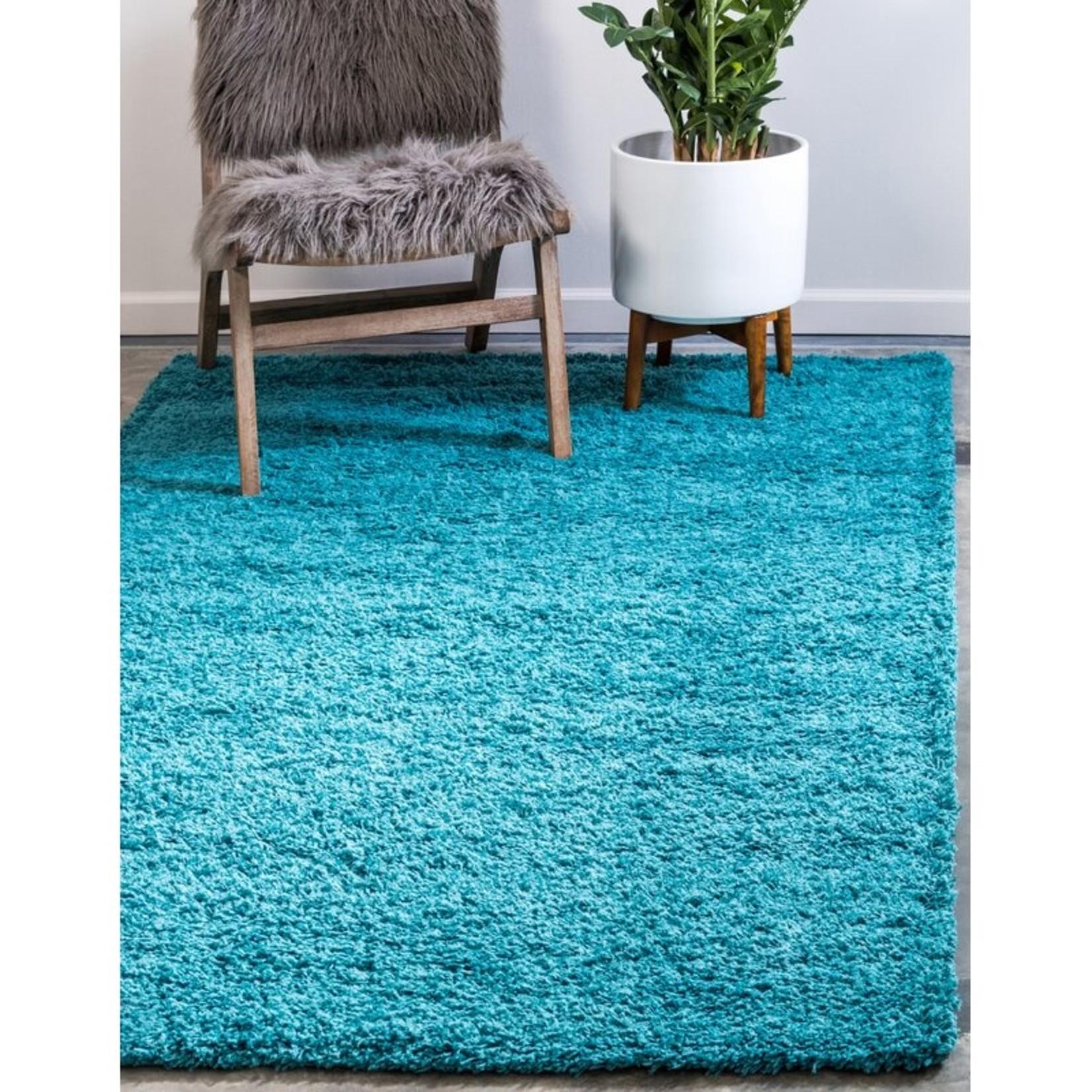 *8' x 10' - Mccoppin Deep Aqua Blue Area Rug