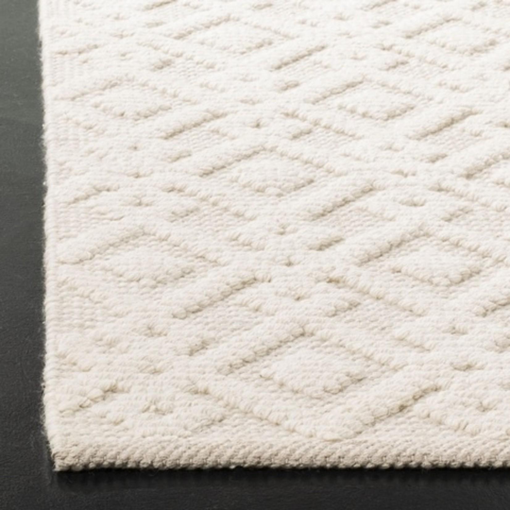 *8' x 10' - Freddy Geometric Handmade Tufted Wool Gray/Ivory Area Rug - Small Tear on Back