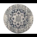 *11' Round - Katie Oriental Cream/Navy Area Rug
