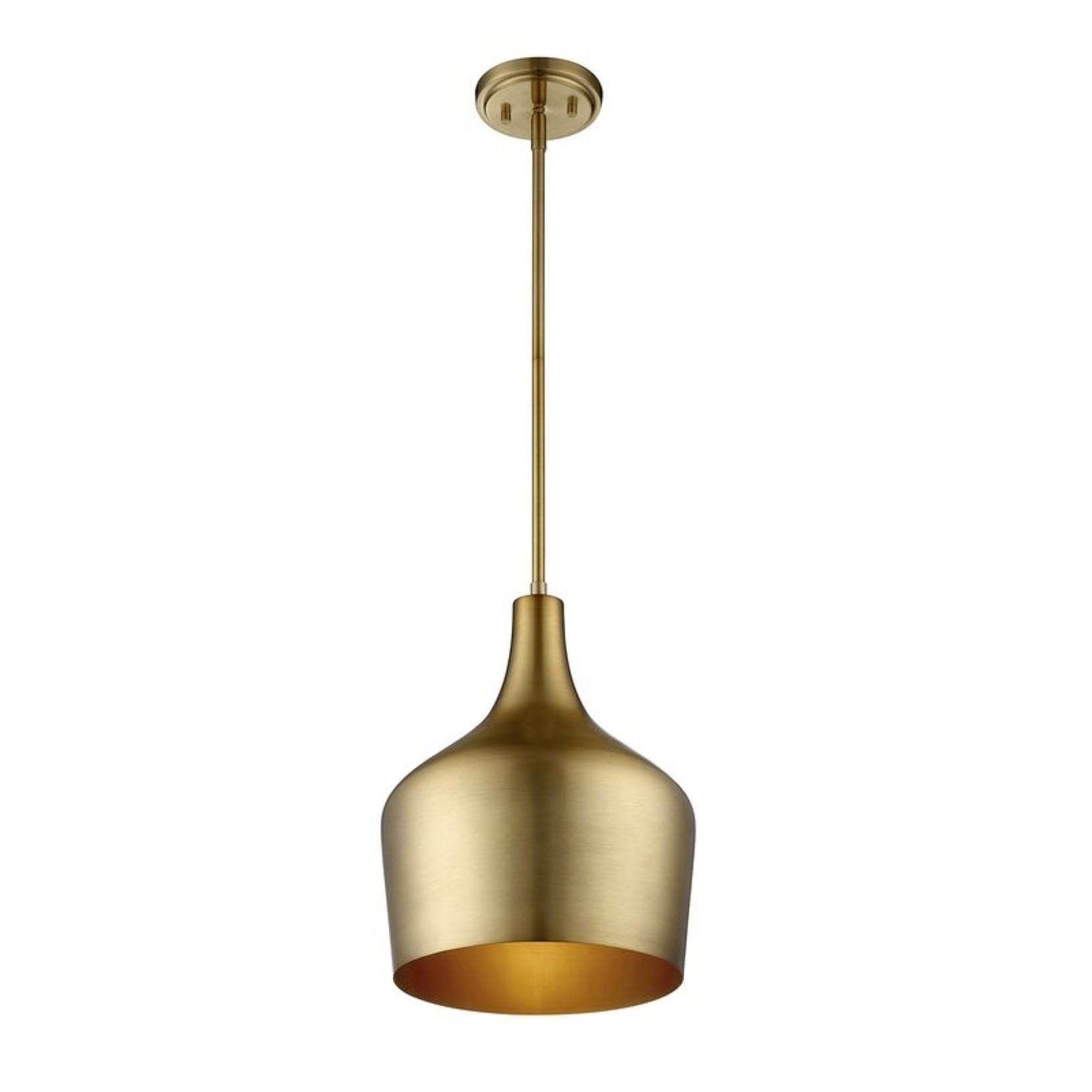 *Knoxville 1-Light Single Bell Pendant - Natural Brass