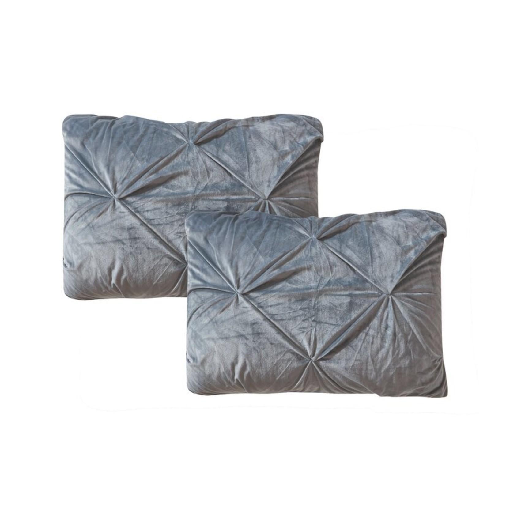 *Dinan Velvet Pintuck Sherpa Reversible Comforter Set - King - FINAL SALE