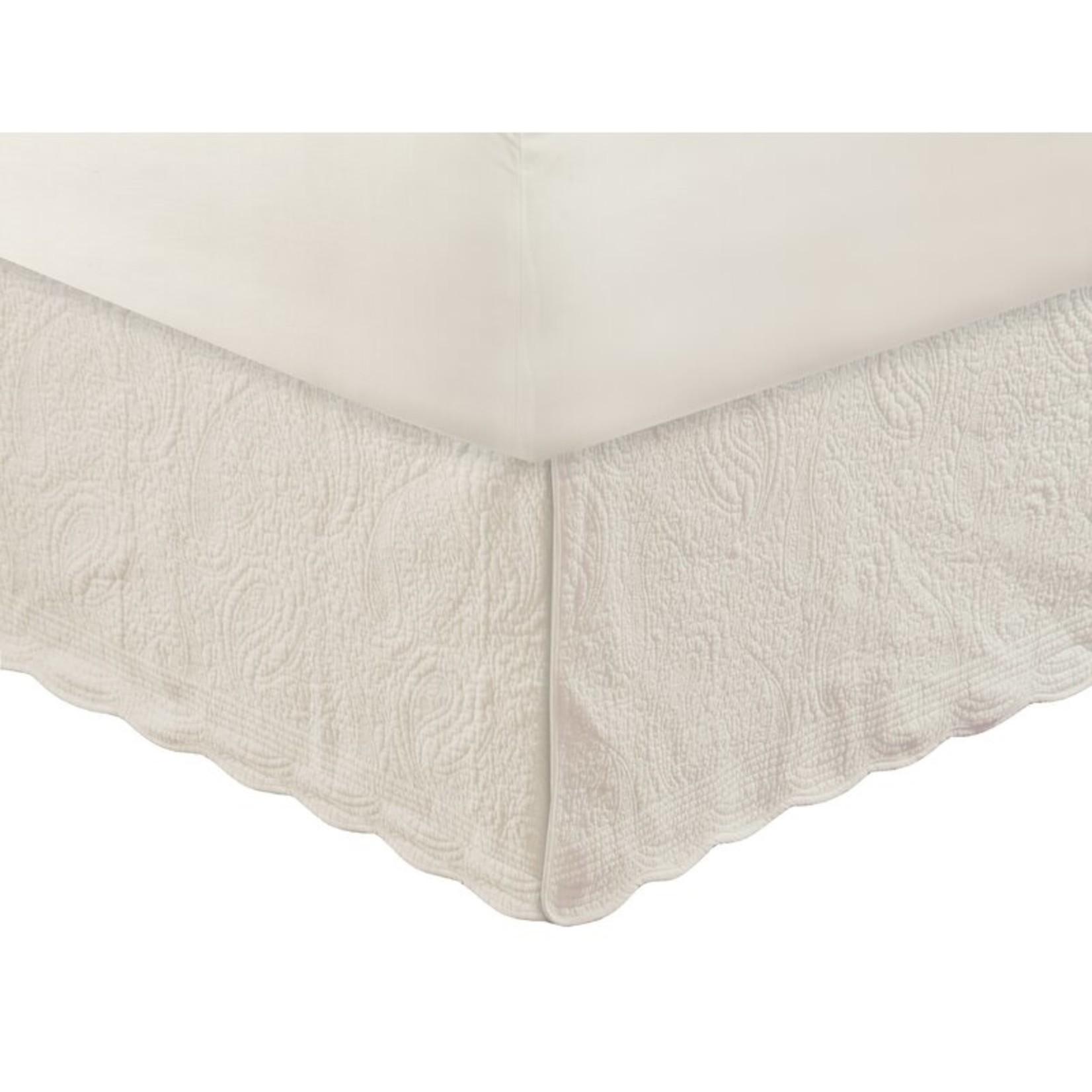 "*Jesper Quilted 18"" Bed Skirt - Queen - FINAL SALE"