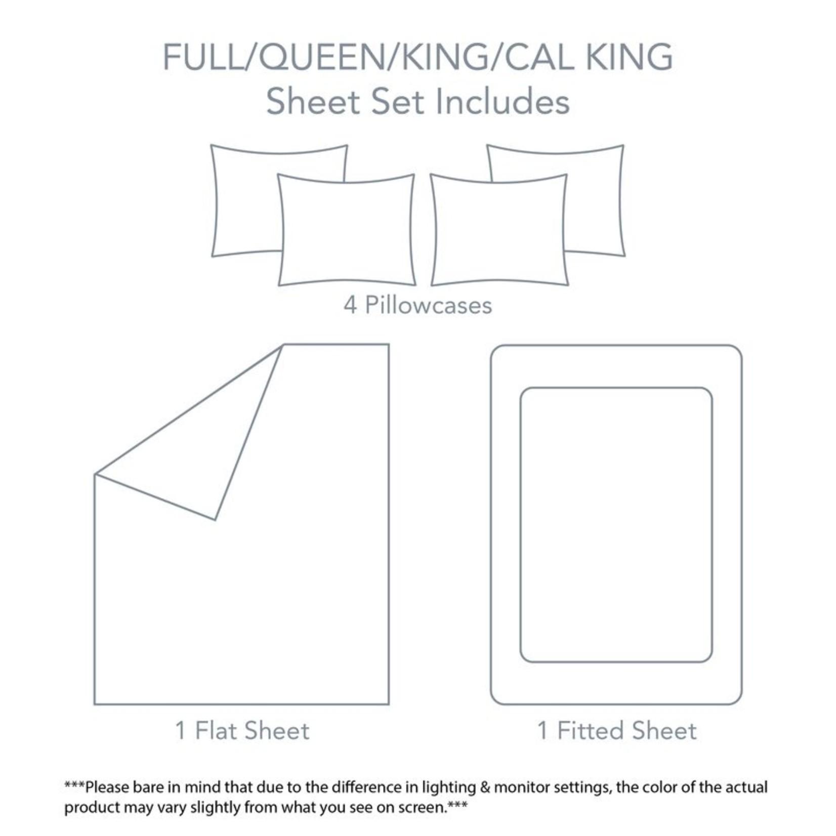 *6 Piece  Sheet Set - Queen - White - FINAL SALE