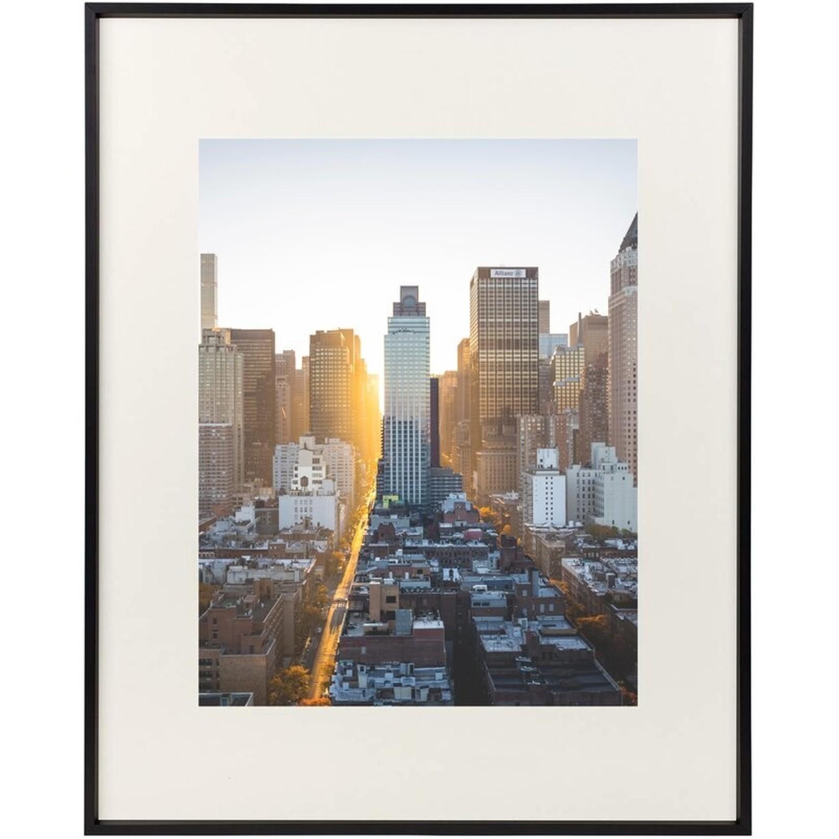"*Aluminum Thin-Border Design Picture Frame - 16"" x 20"" - Black"
