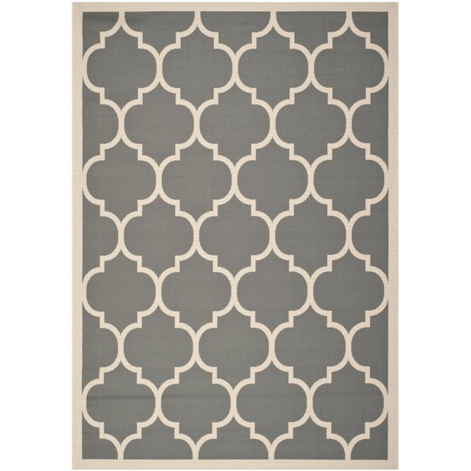 *8' x 11' - Adelia Geometric Gray/Beige Indoor/Outdoor Area Rug