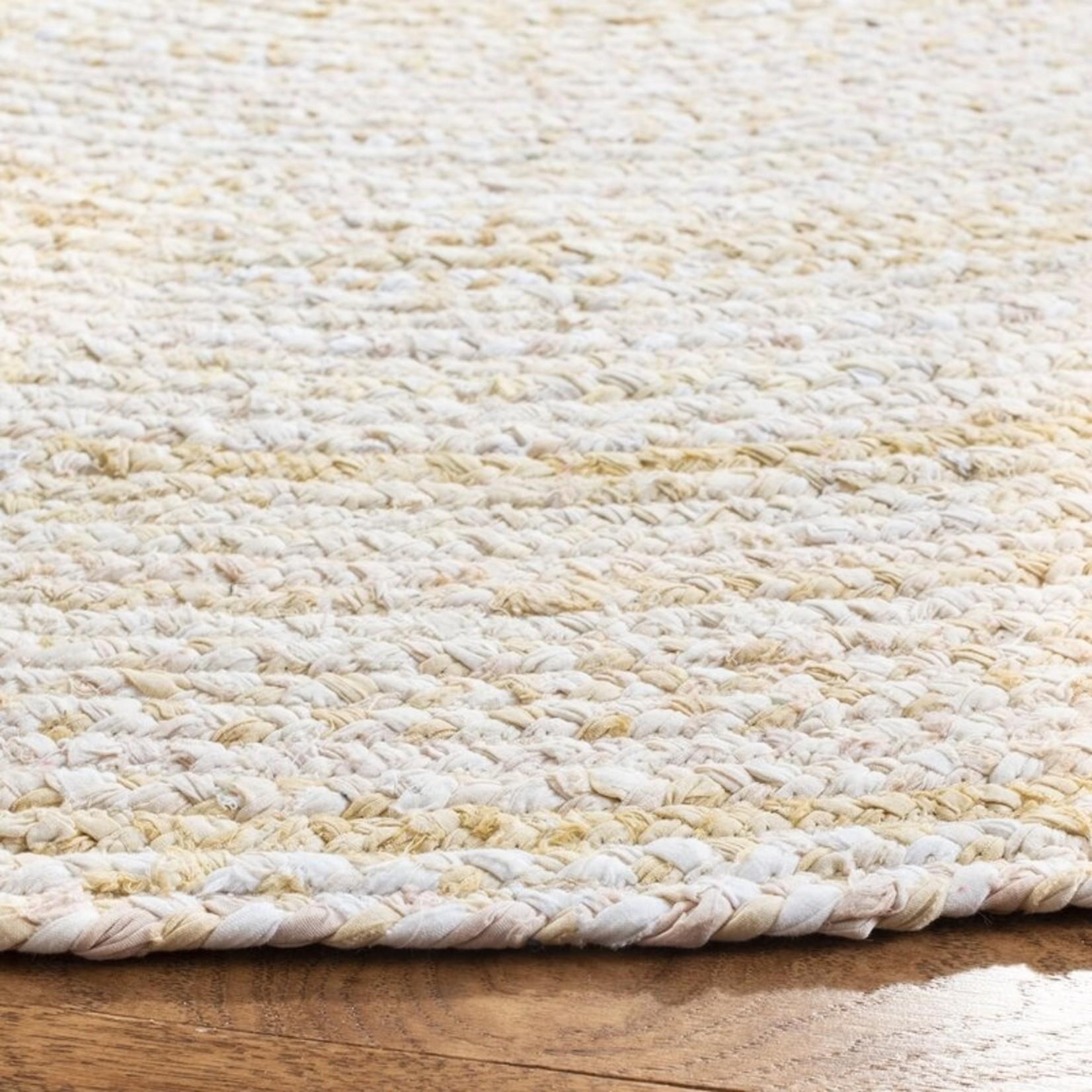 *6' Round - Casen Hand-Braided Cotton Beige Area Rug