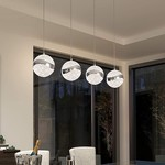 *Alazar 4 - Light Kitchen Island Globe LED Pendant
