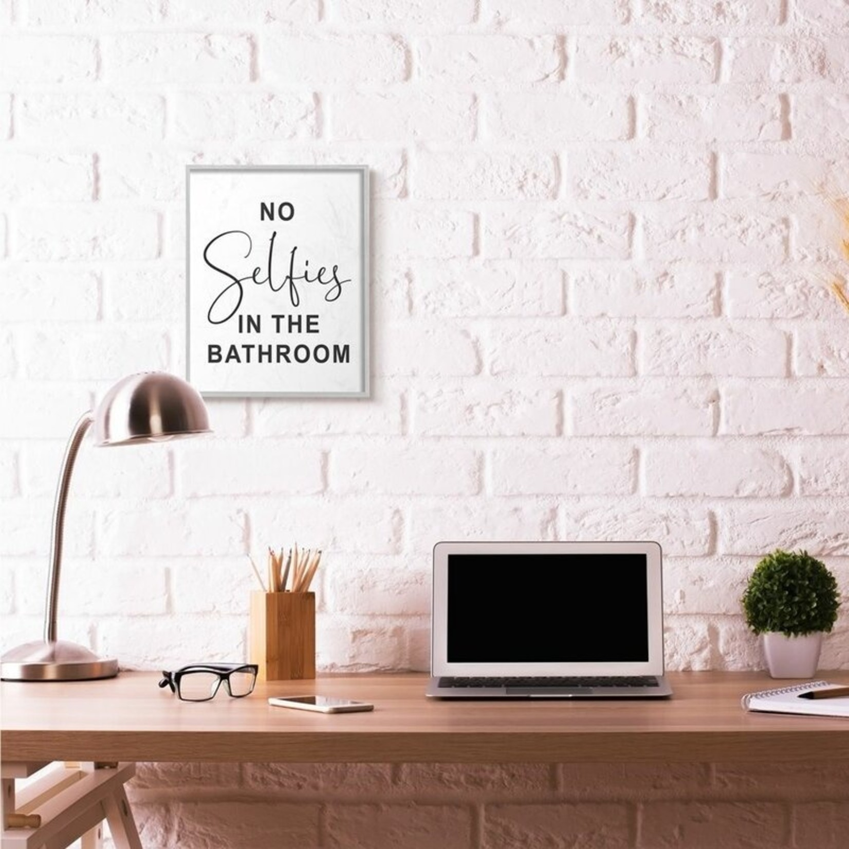 """*No Selfies by Lettered and Lined - Texture Art Print - 16"""" x 20"""""""
