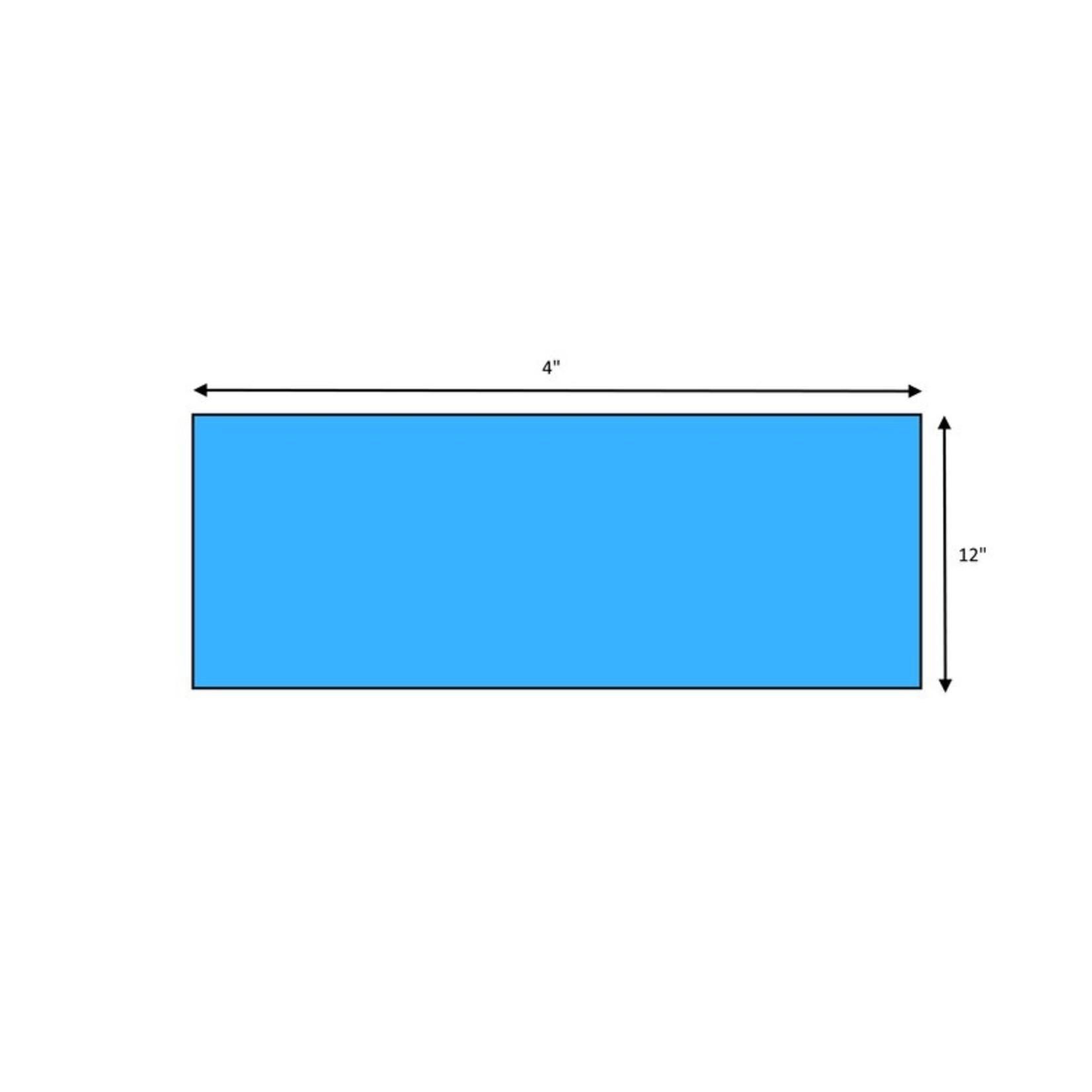 "*Premium 4"" x 12"" Glass Subway Tile - Aqua - Set of 15"