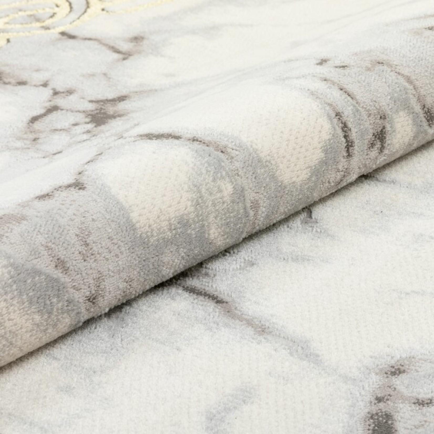 "*7'10"" x 9'10"" - Fairmont Huntington Marble Border Power Loom Ivory Rug"