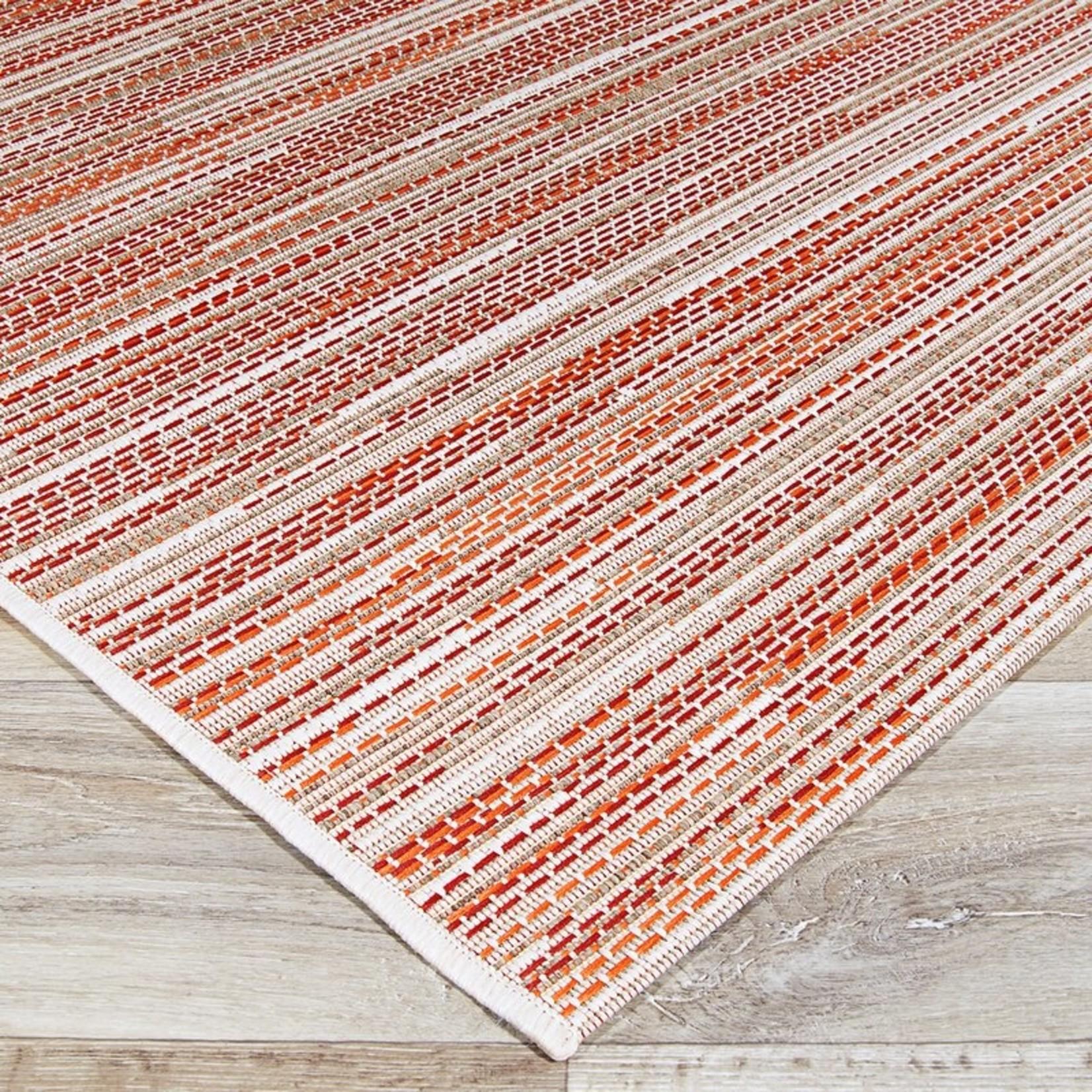 """*8'6"""" x 13' - Embry Block Print Hand Woven Indoor/Outdoor Area Rug"""