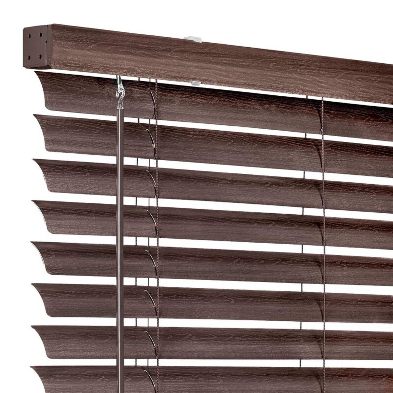 "*GII Luna Cordless Vinyl Semi-Sheer Horizontal/Venetian Blind - 27"" x 64"" - Mahogany - Final Sale"