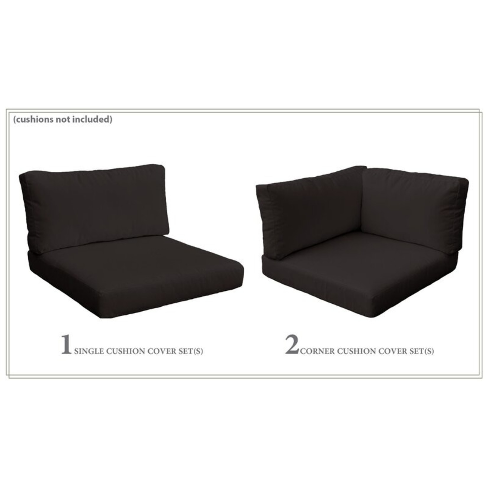 *Rochford 3 Piece Indoor/Outdoor Cushion Cover Set (Covers Only) - Final Sale