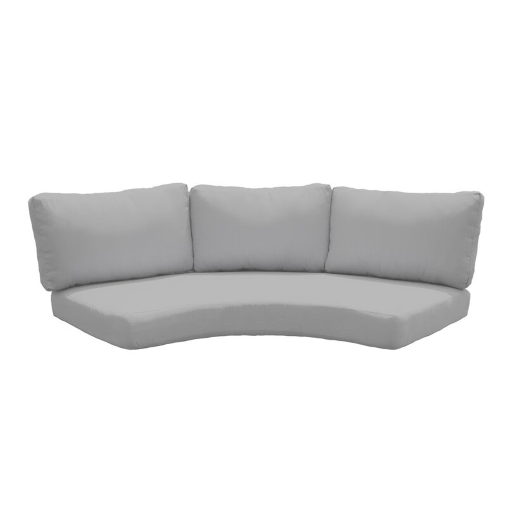 *Curved Sofa/3 backs - Indoor/Outdoor Cushion Cover (Covers Only) - Gray - Final Sale