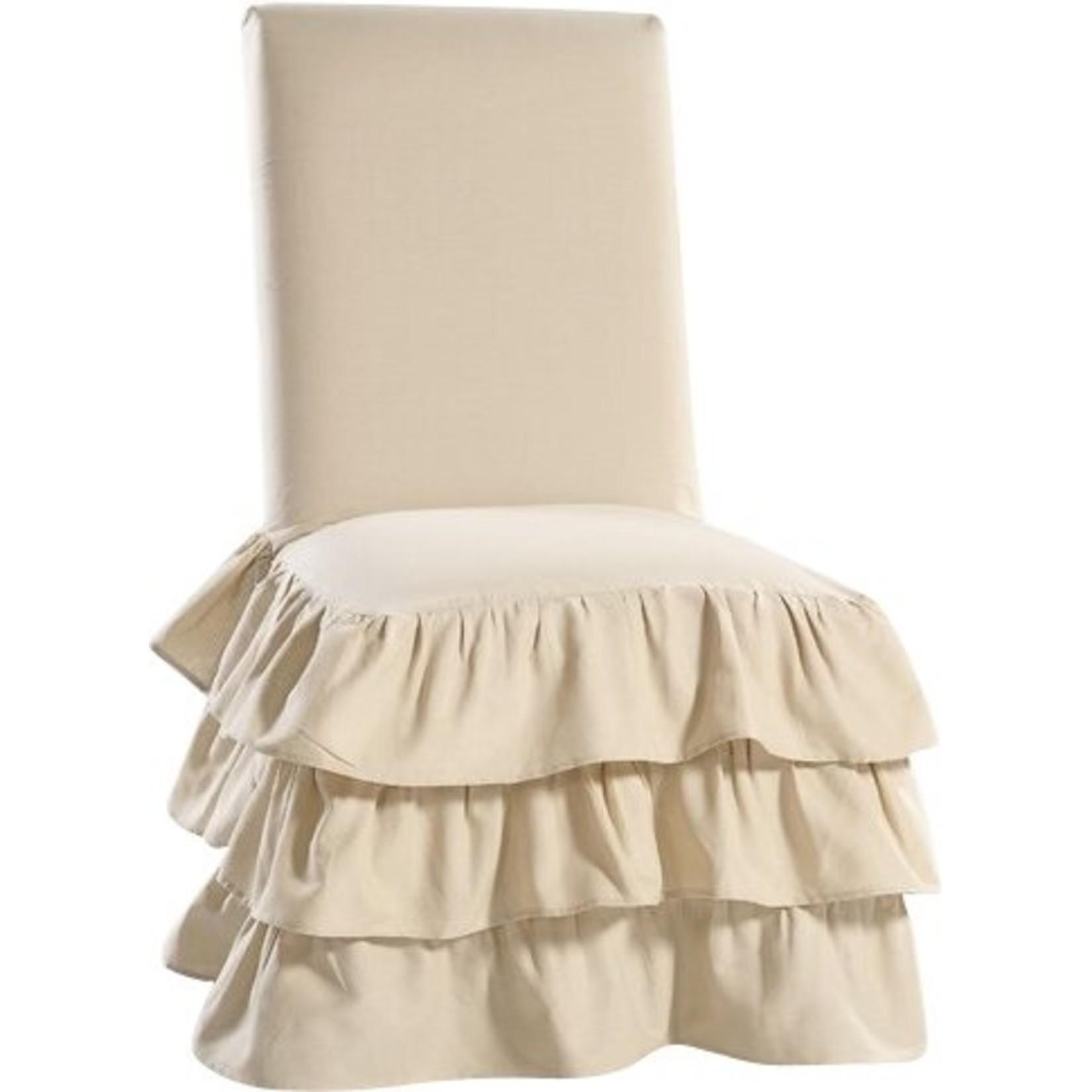 *Parson Skirted Box Cushion Dining Chair Slipcover - Khaki - Final Sale