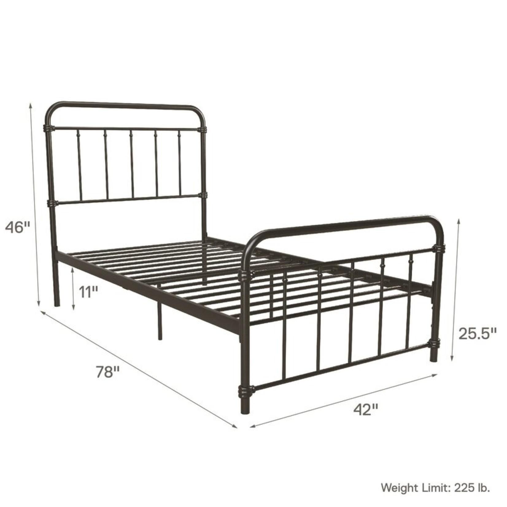 *Twin - Black Matheney Platform Bed