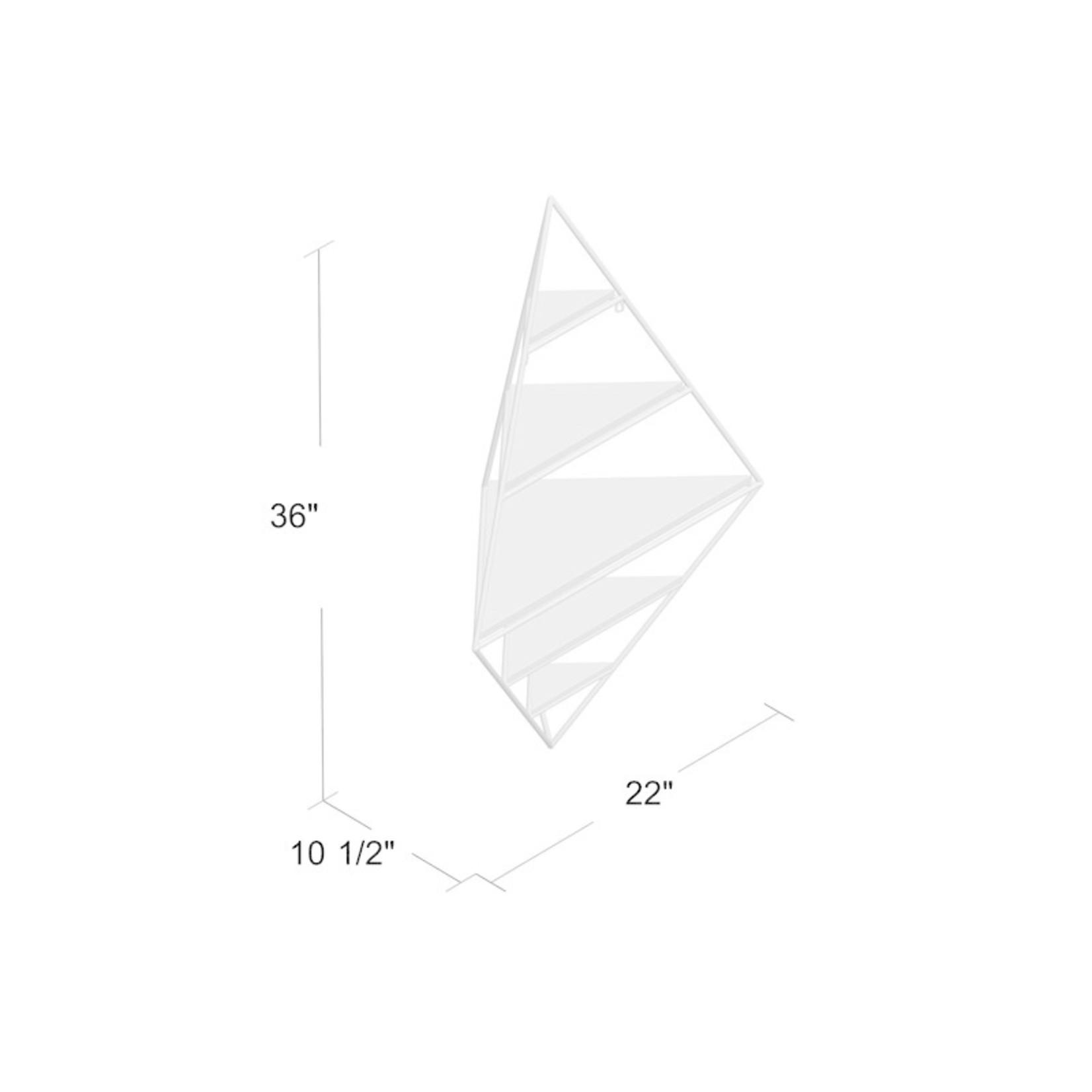 *Quon Decorative Mid Century Modern 5 Piece Diamond Corner Shelf - Slight Damage