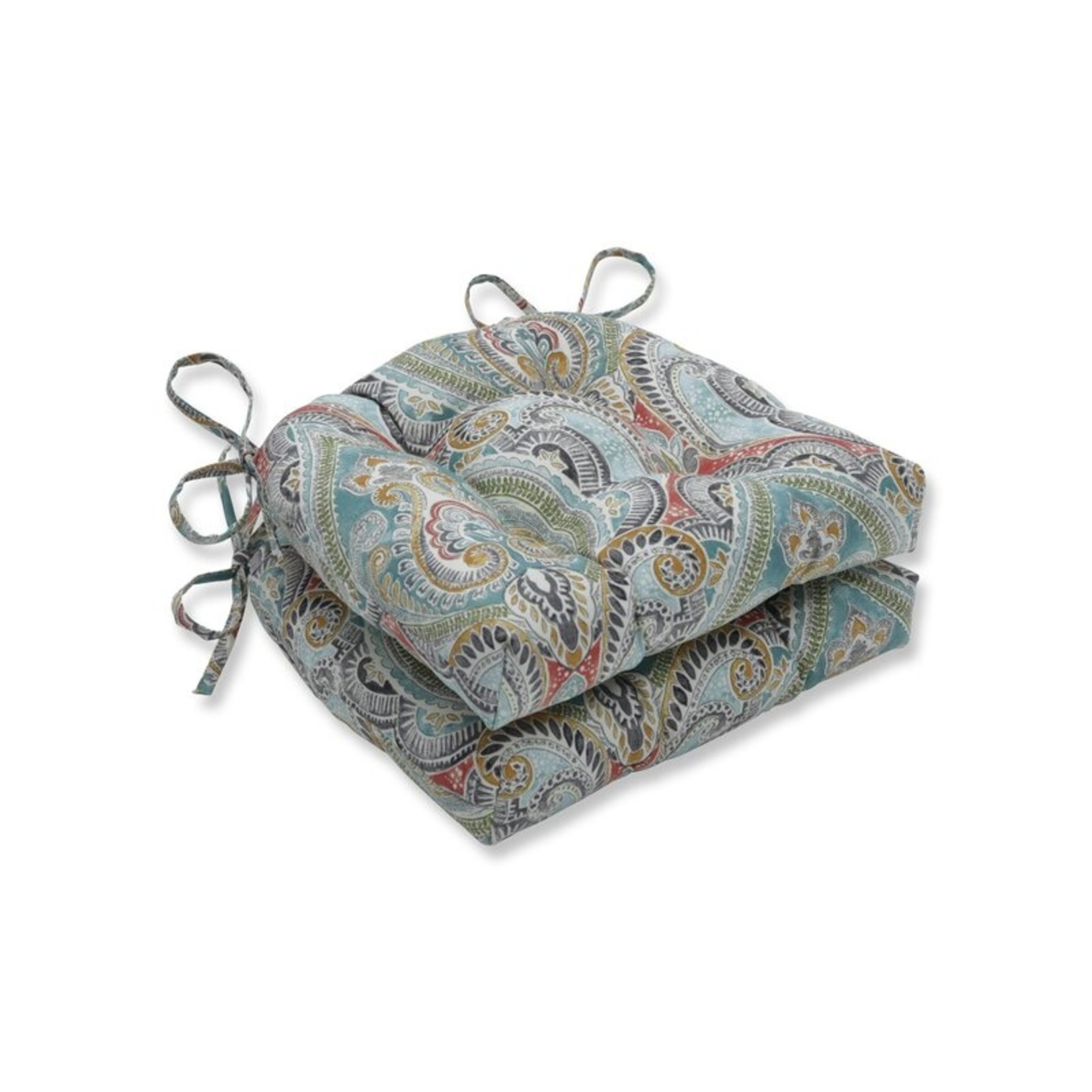 *Pretty Witty Reef Reversible Indoor/Outdoor Dining Chair Cushion - Set of 4
