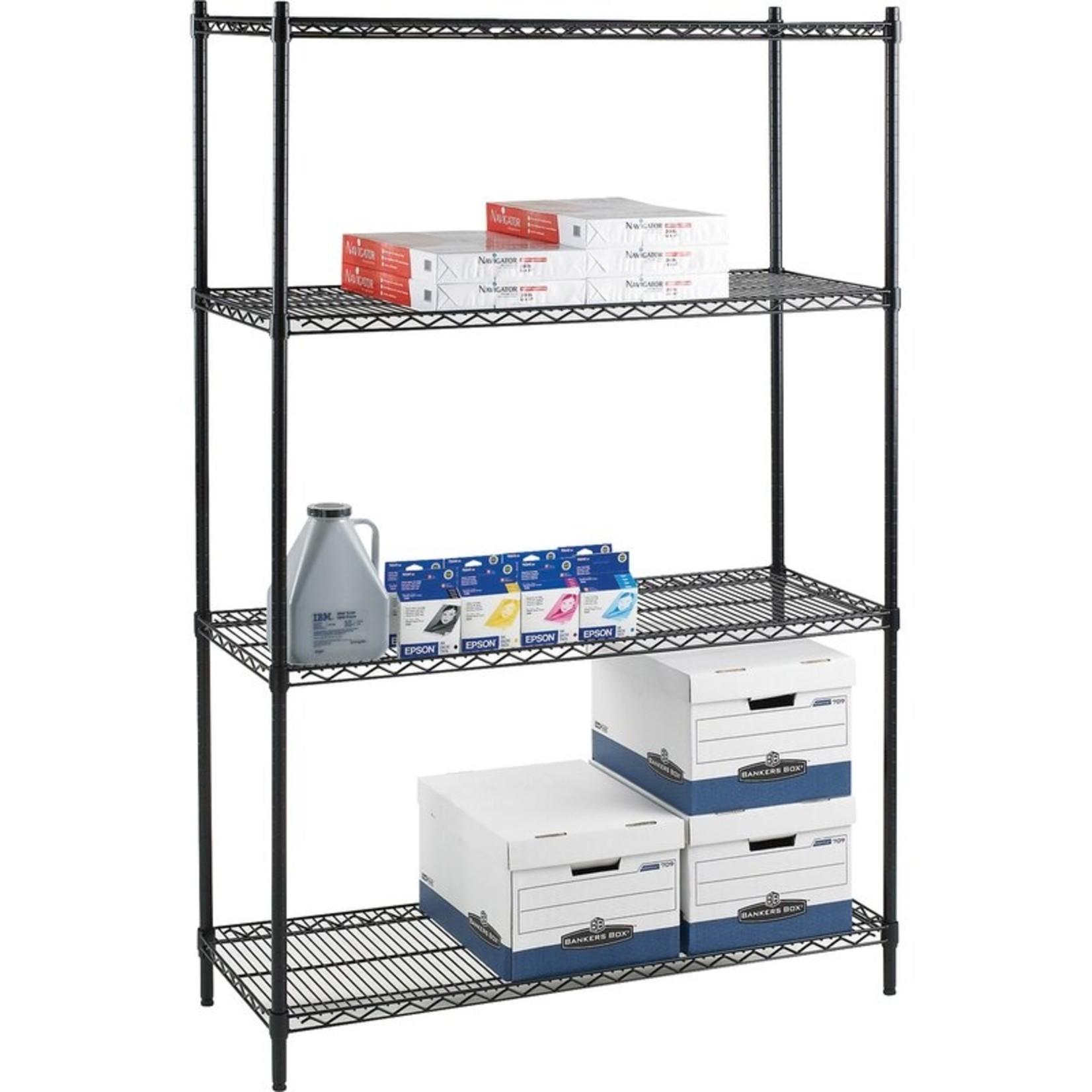 "*Jaquan Tier Industrial Wire 72"" H 4 Shelf Shelving Unit Starter"