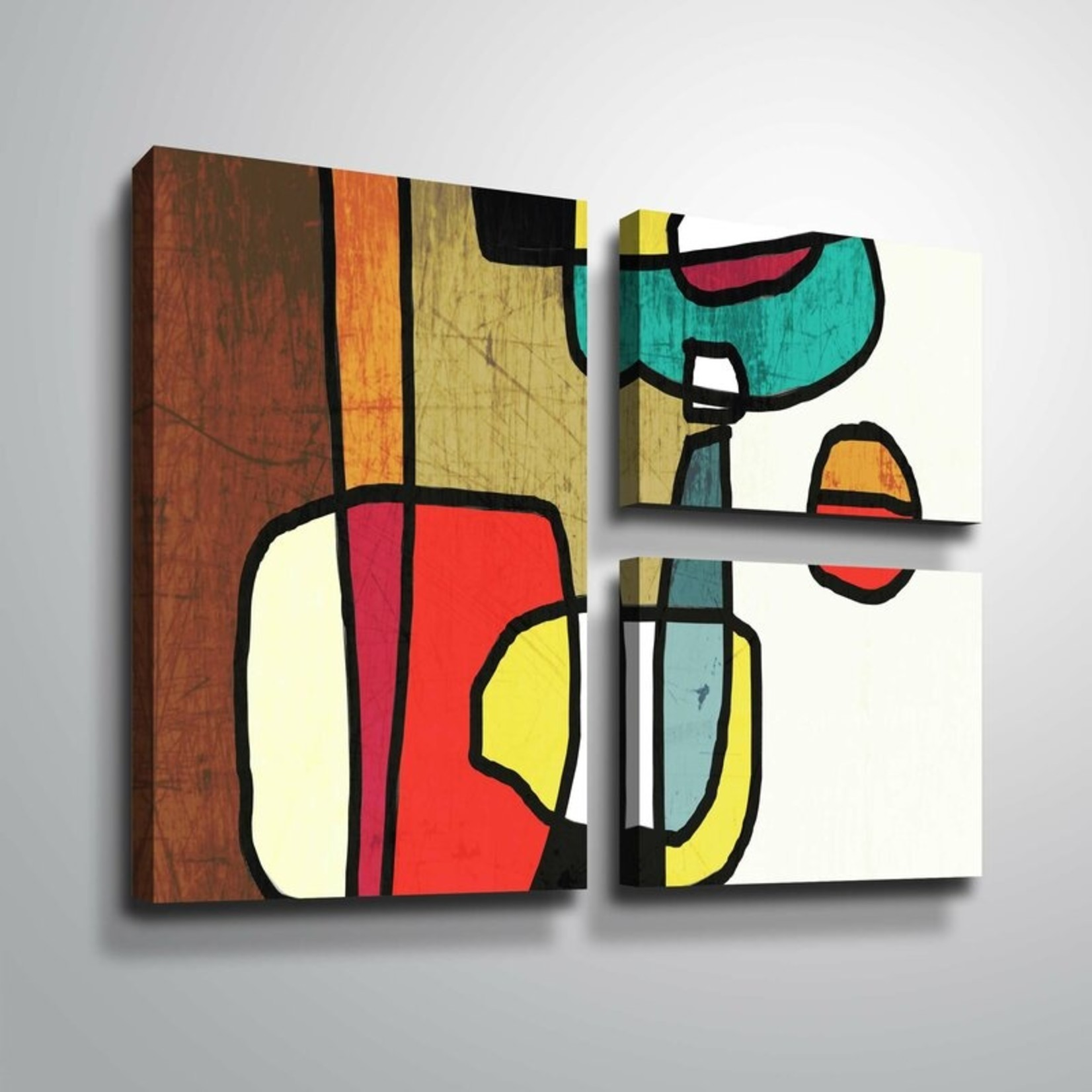 *Fernald Vibrant Colorful Abstract III' Graphic Art Print Multi-Piece Image
