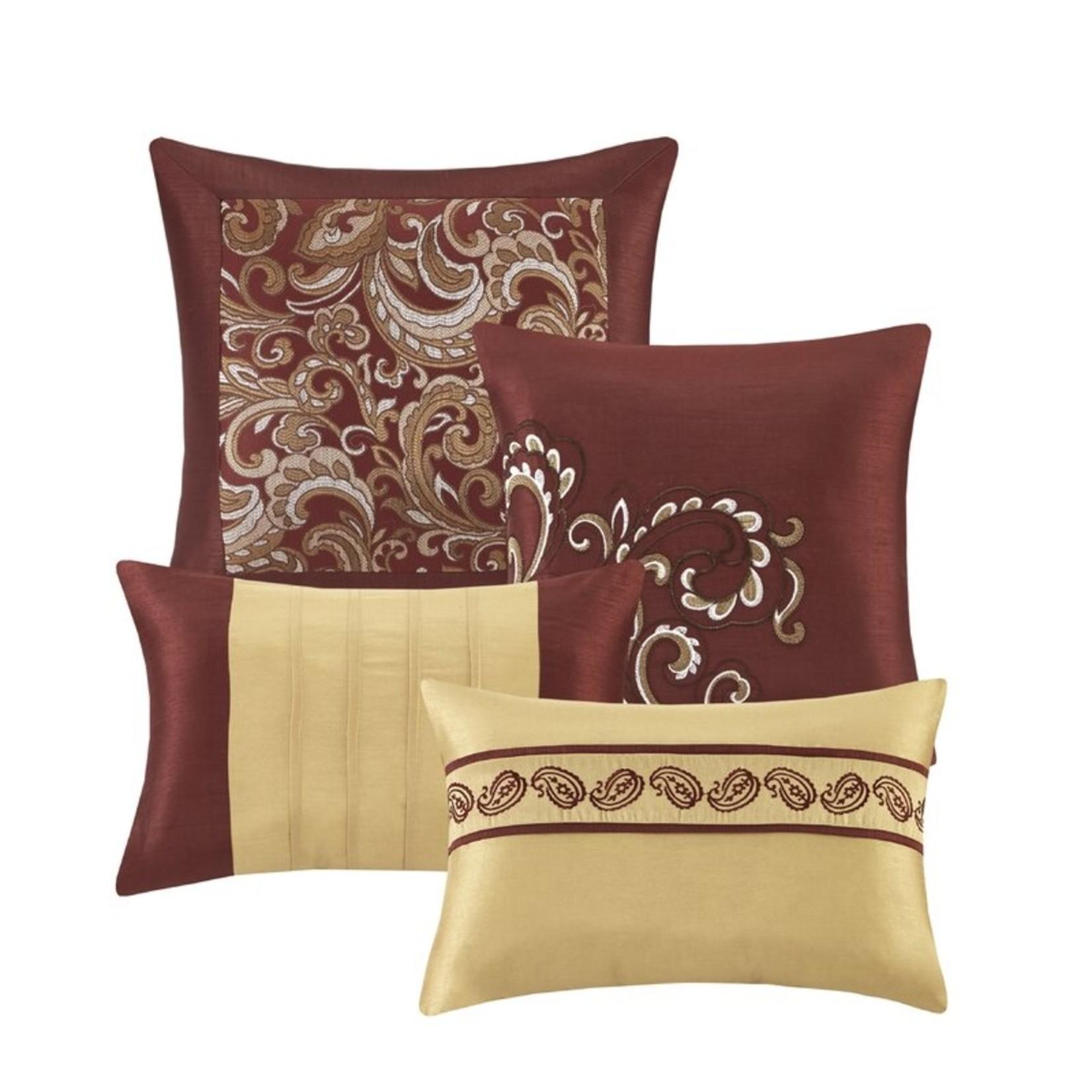 *Queen - Wightmans Paisley 24 Piece Comforter Bed-in-a-bag - Burgundy - Final Sale