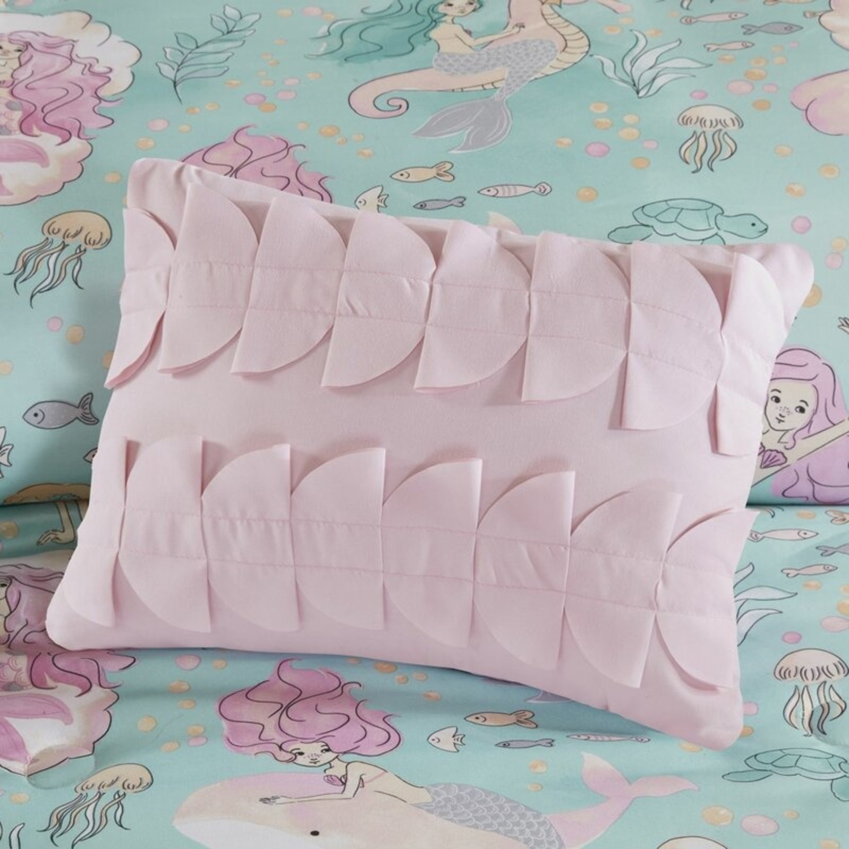 *Twin - Regil Printed Mermaid Comforter Set - Final Sale