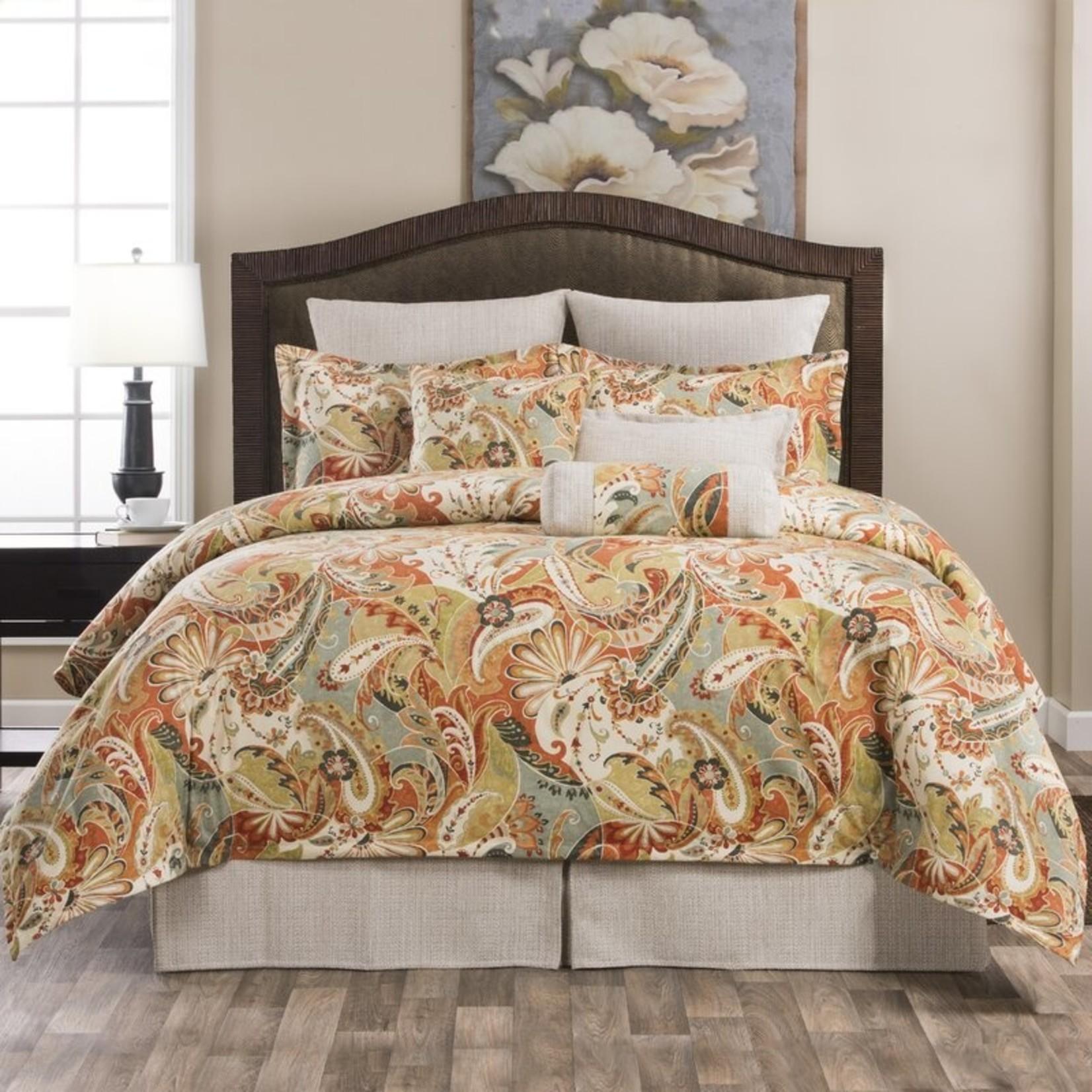 *Queen - Bergen 100% Cotton 4 Piece Comforter Set - Final Sale