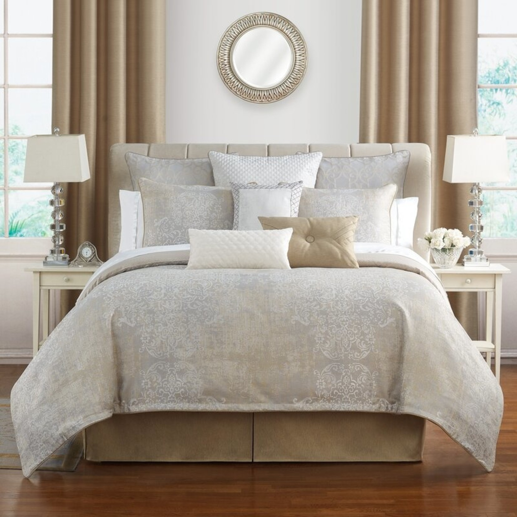*King - Waterford Maritana Reversible 4PC. Comforter Set - Final Sale