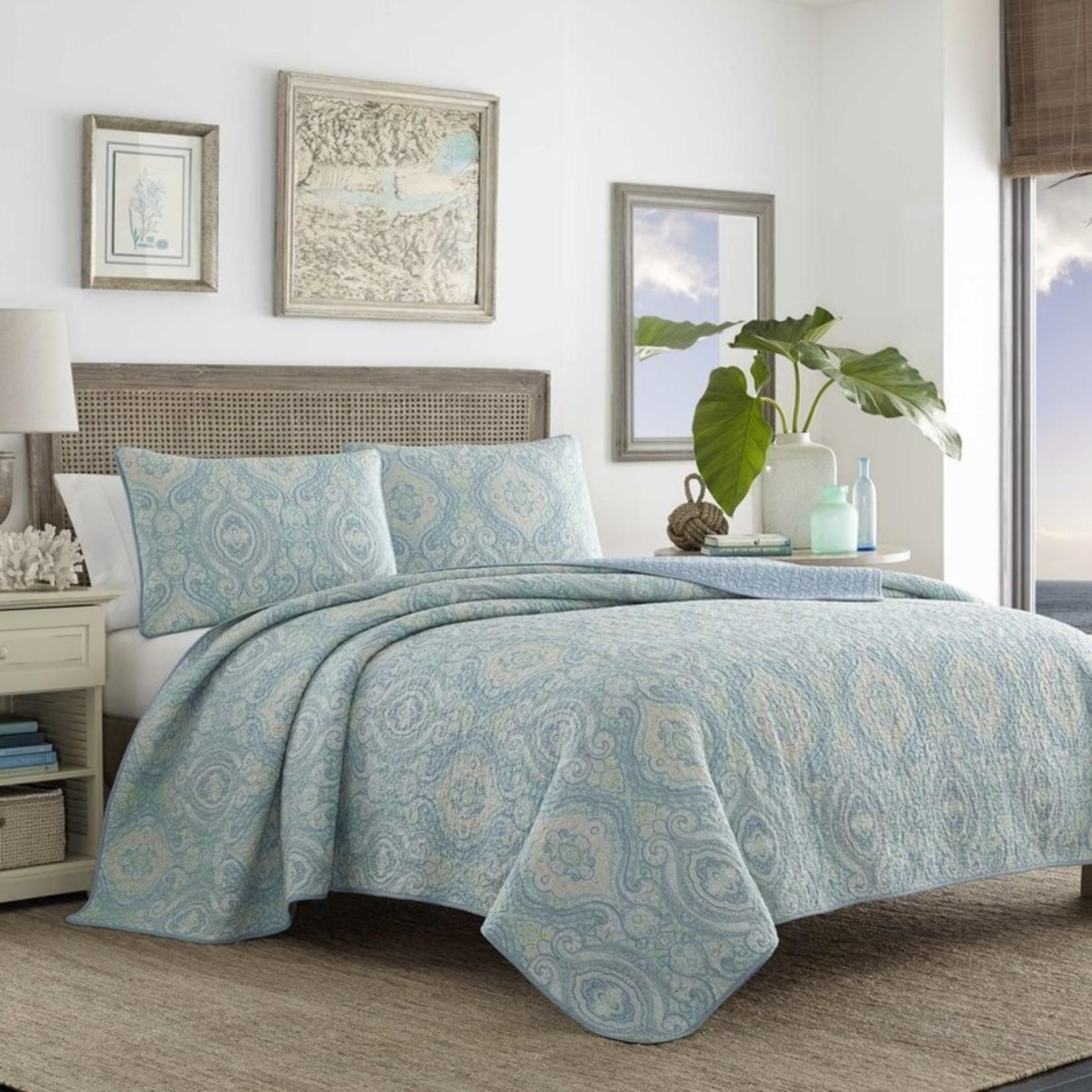 *King - Turtle Cove Reversible Geometric 100% Cotton 2 Piece Quilt Set - Final Sale