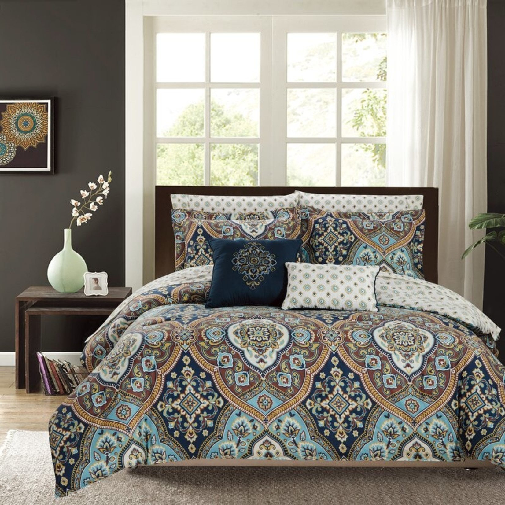 *King -  Laskey Reversible Comforter Set - Final Sale