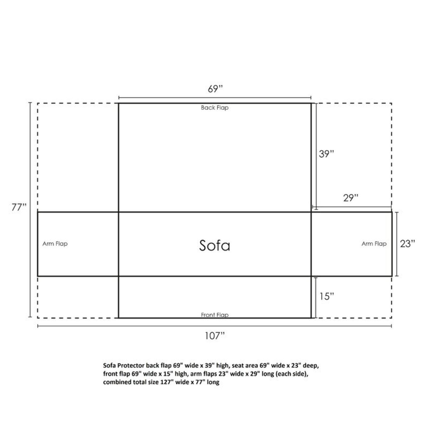 *Easterling Box Cushion Sofa Slipcover - Final Sale