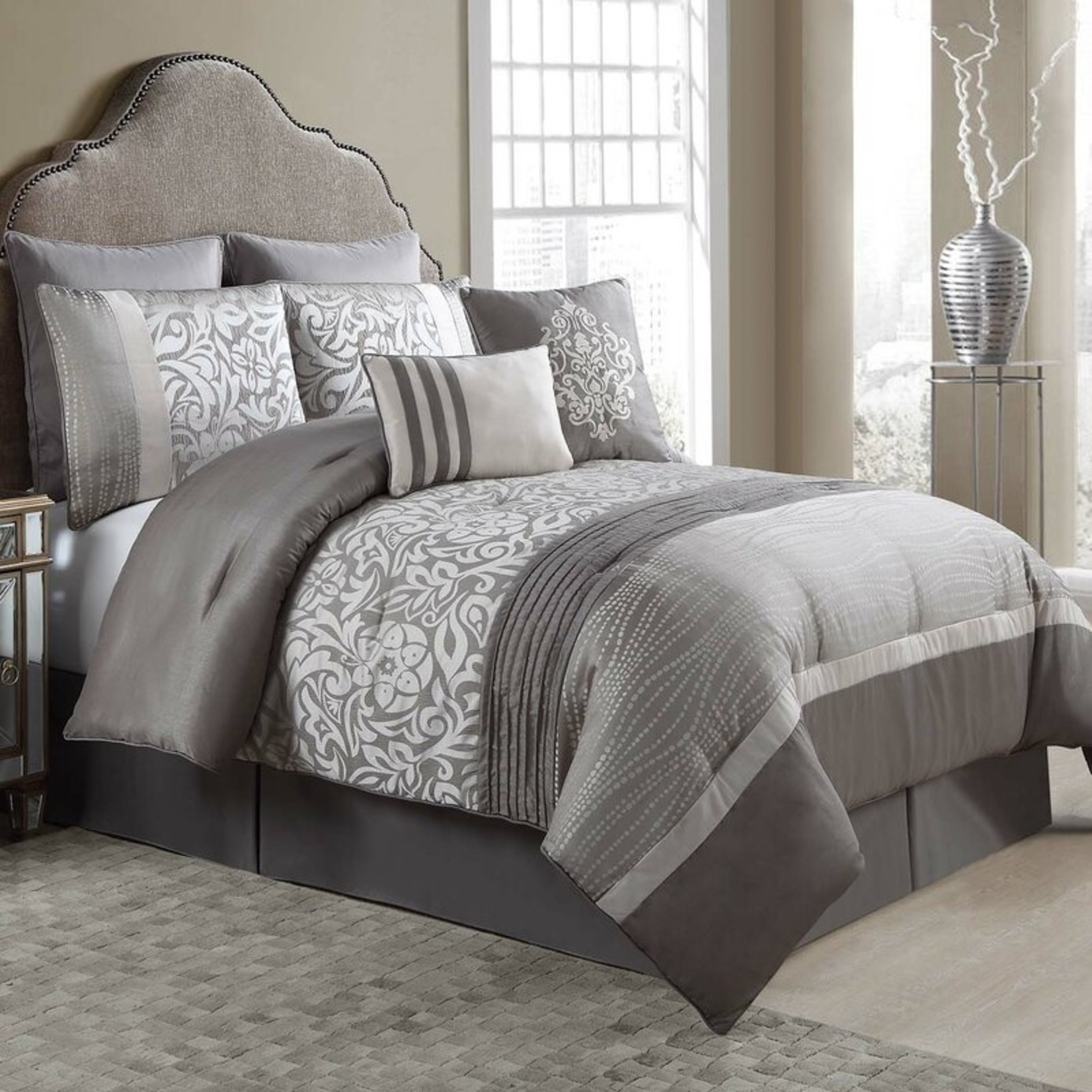 *Queen - Wattson 8 Piece Reversible Comforter Set - Final Sale