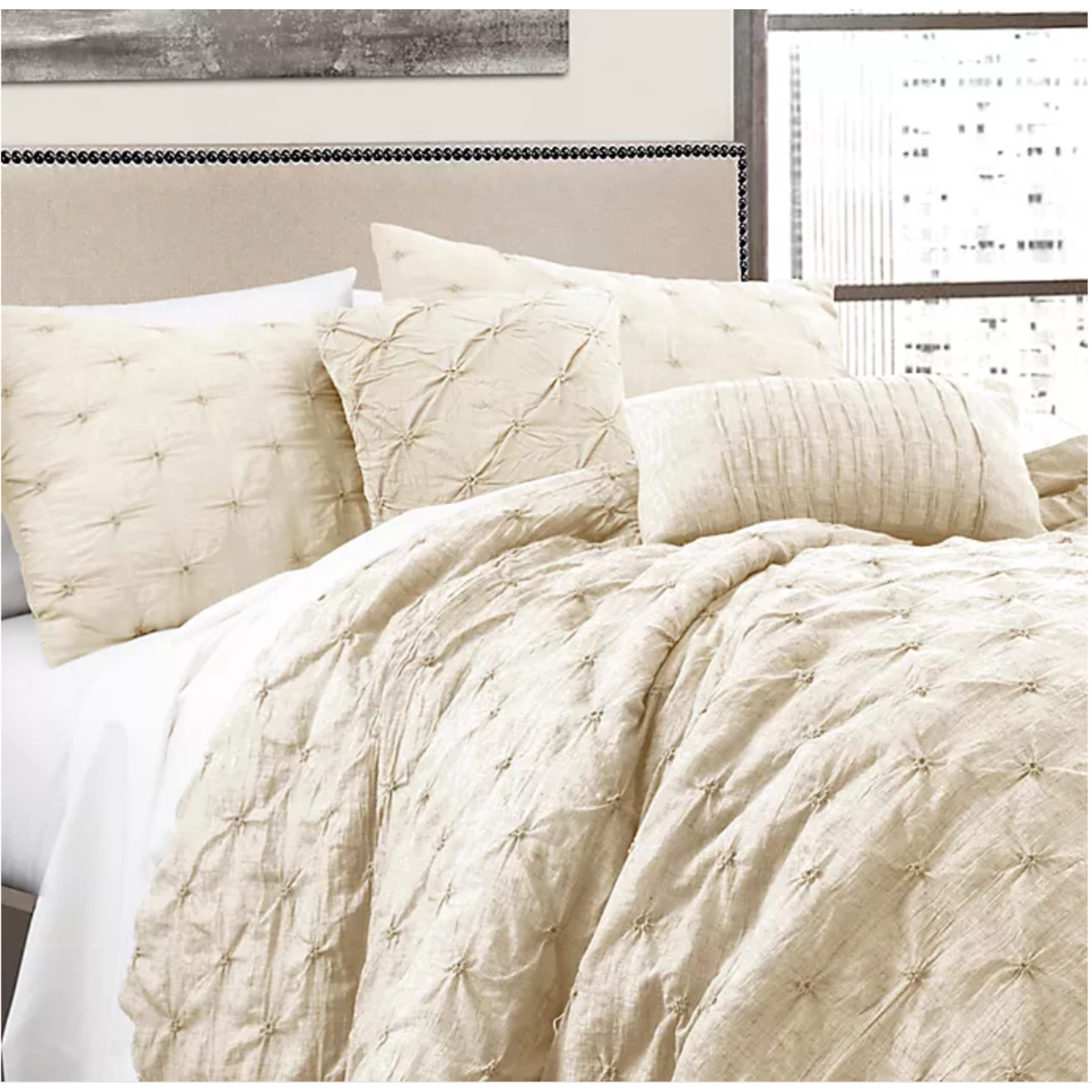 *King  - Ornelas Comforter Set - Ivory - Final Sale