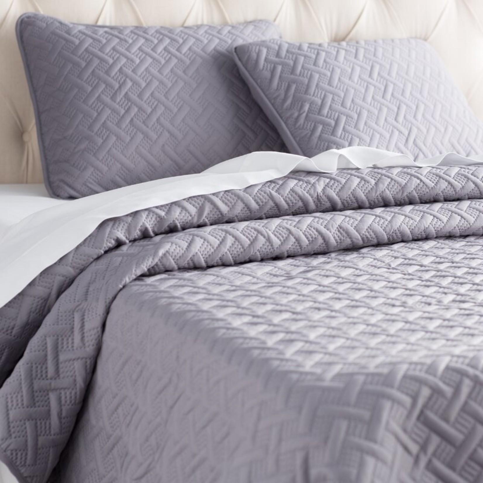 *King - Pederson Reversible Geometric 2 Piece Coverlet Set - Gray - Final Sale