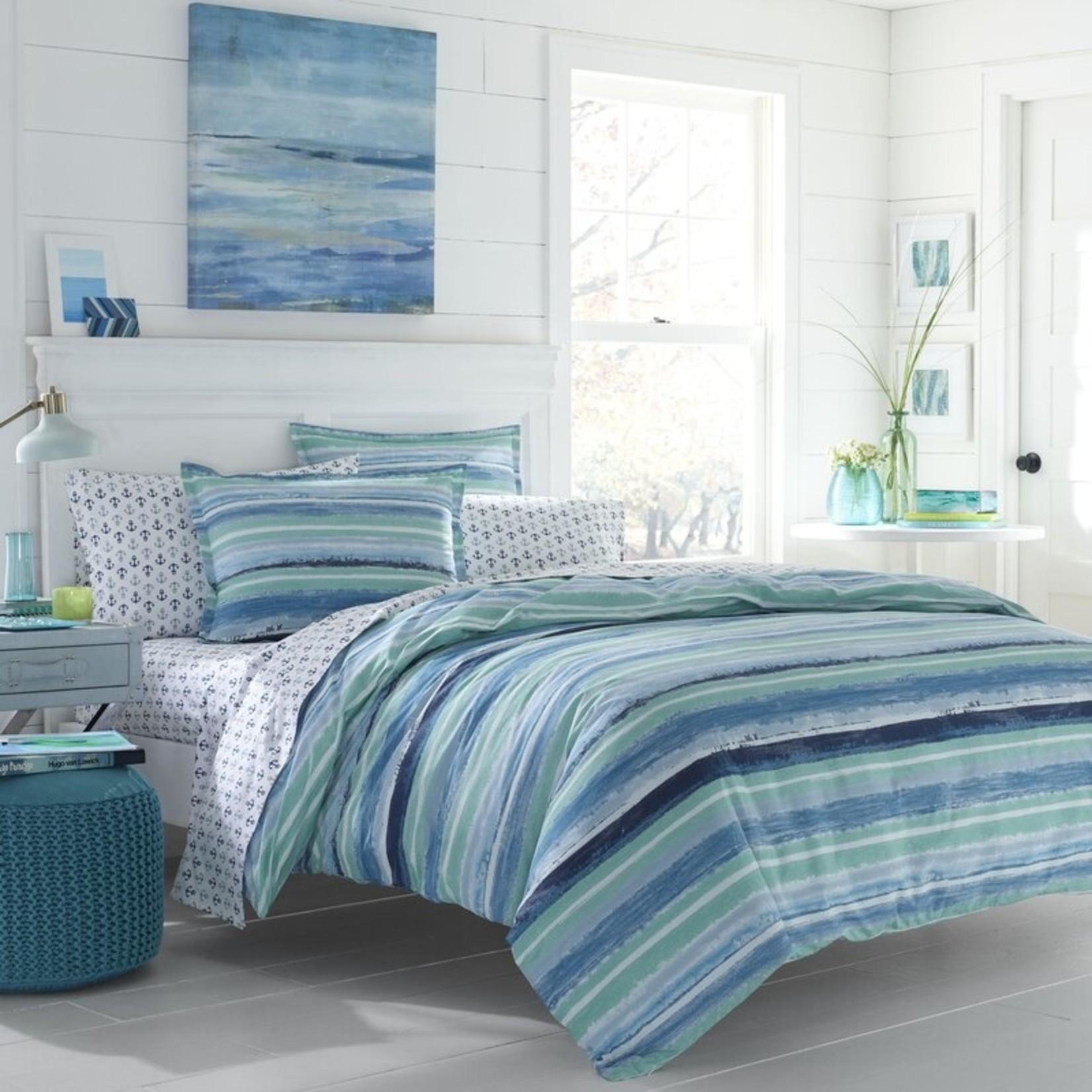*Full/Queen - Torney Reversible Comforter Set - Blue/Aqua - Final Sale