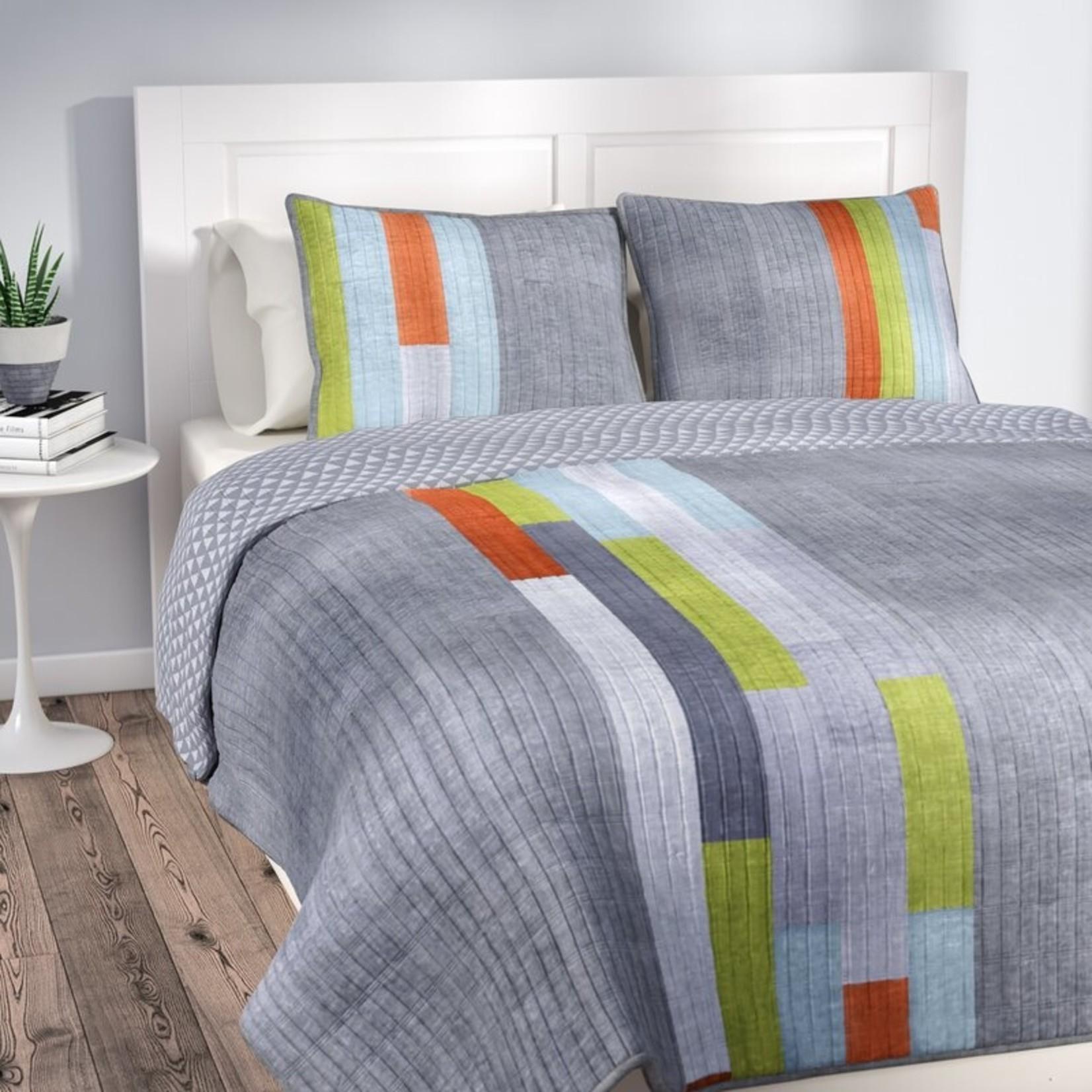 *King - Budge Stripe Reversible Quilt Set - Final Sale